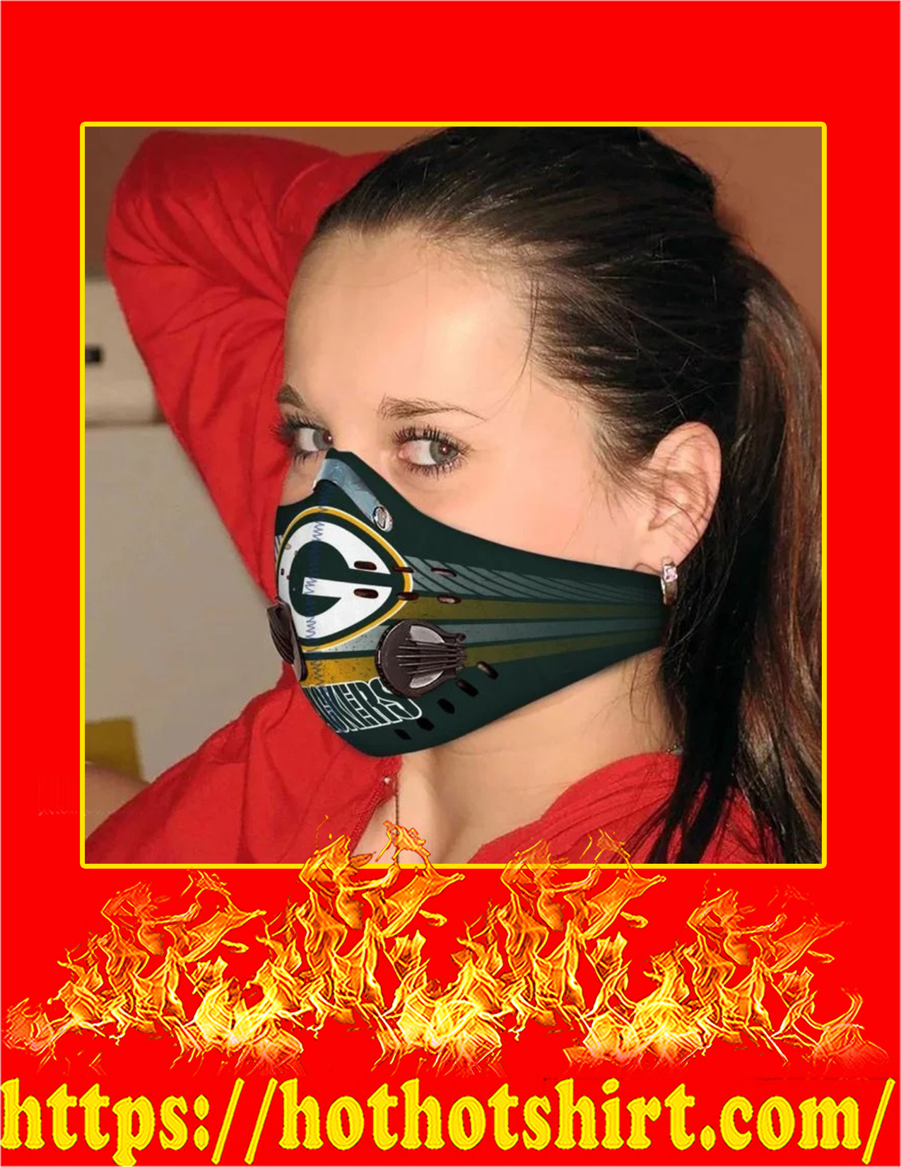 Green bay packers filter face mask