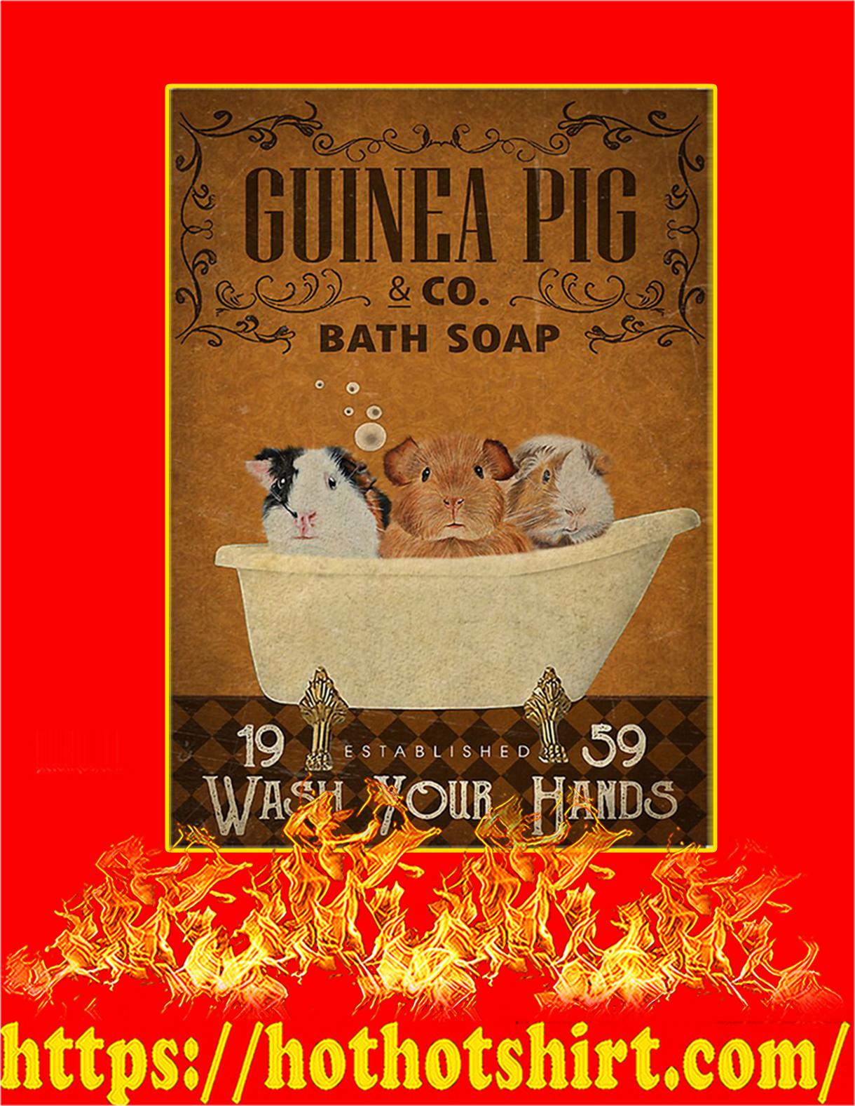 Guinea pig bath soap poster - A2