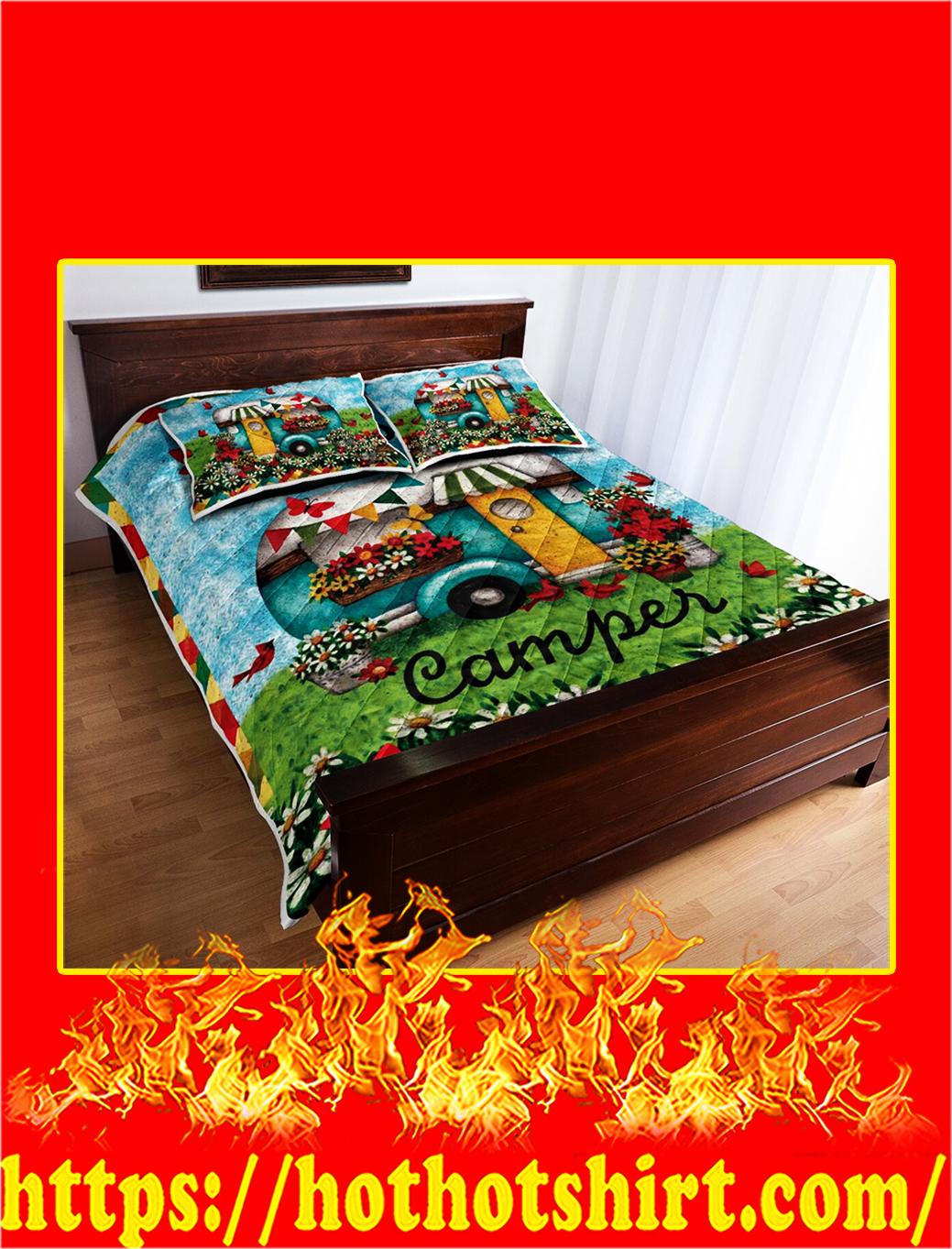 Happy Camper Quilt Blanket- king