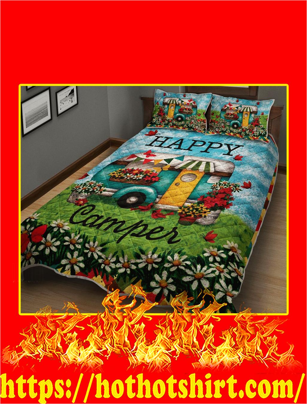 Happy Camper Quilt Blanket- queen