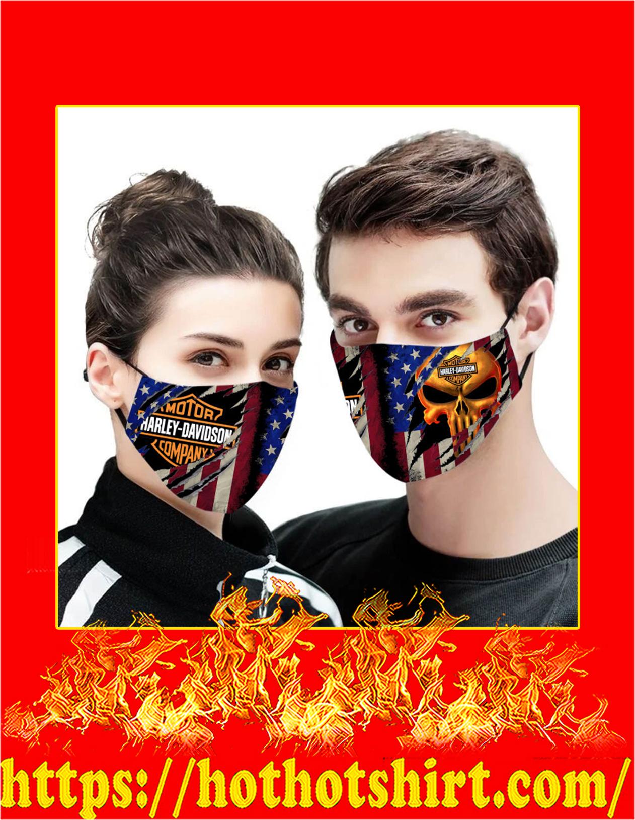 Harley-davidson punisher skull american flag face mask - detail