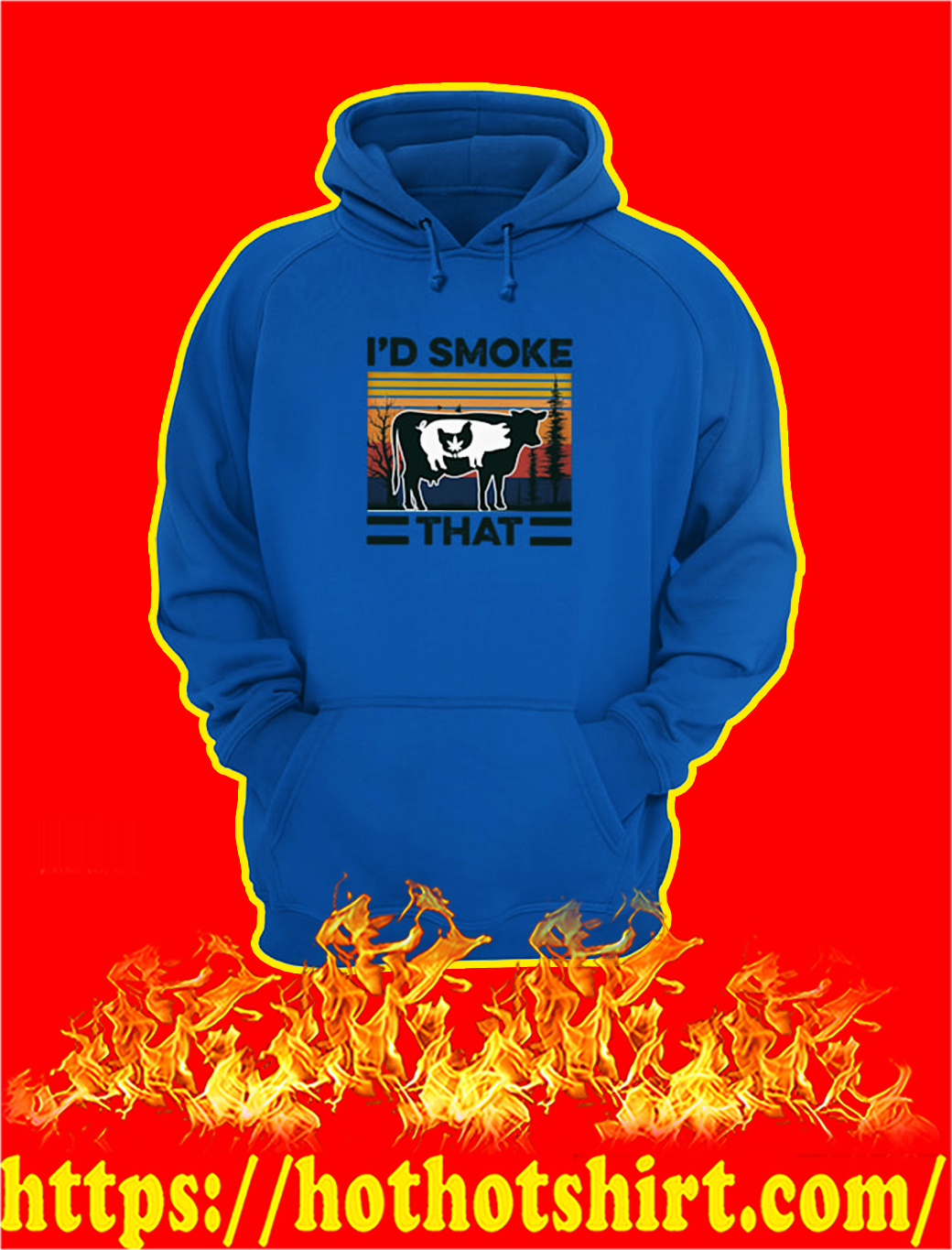I'd smoke that cow pig chicken weed hoodie