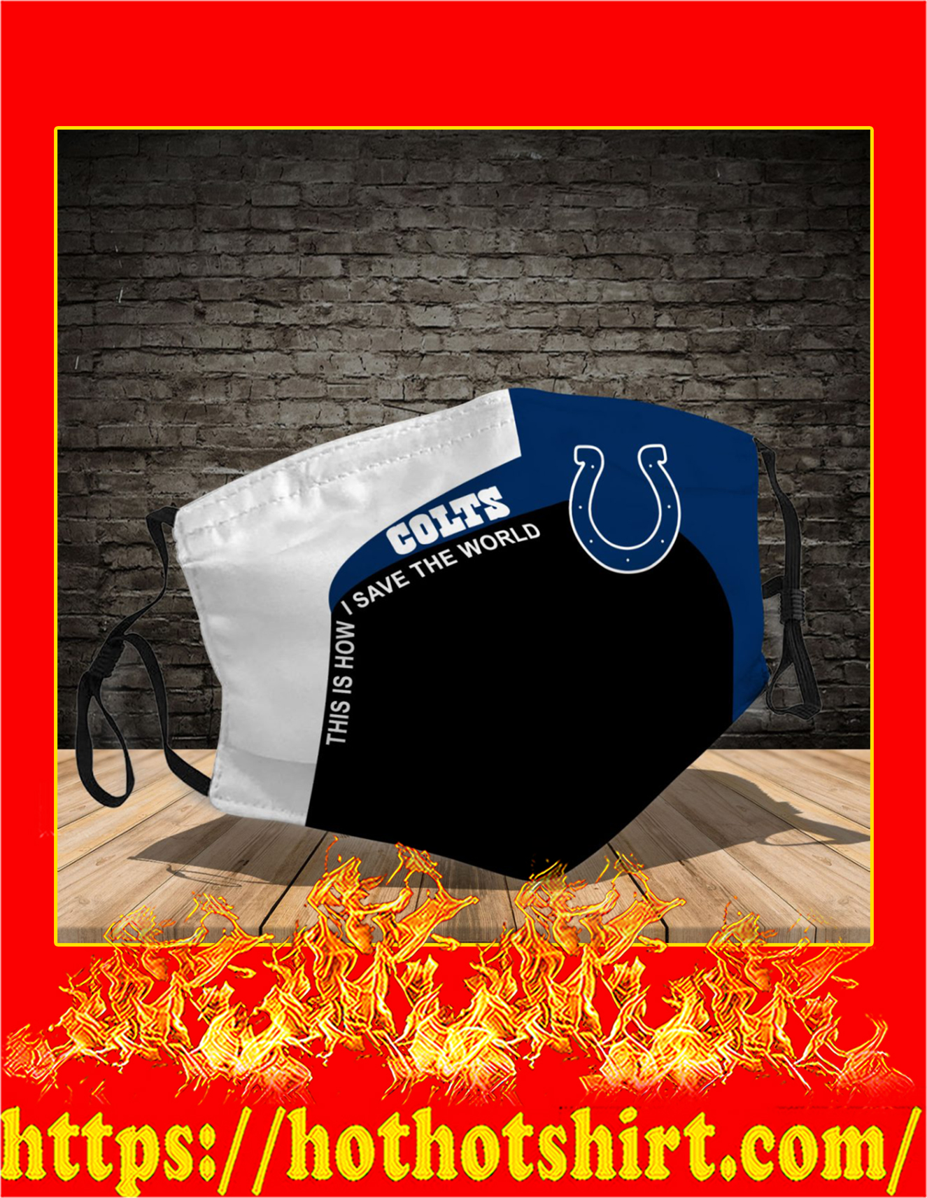 Indianapolis colts 3d face mask - detail