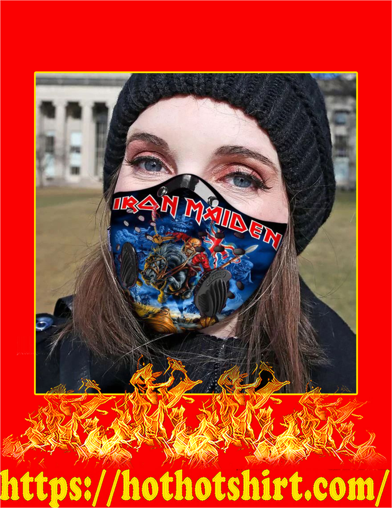 Iron maiden filter face mask - Detail