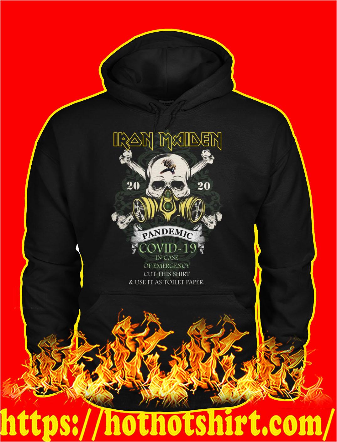 Iron maiden pandemic covid 19 skull hoodie