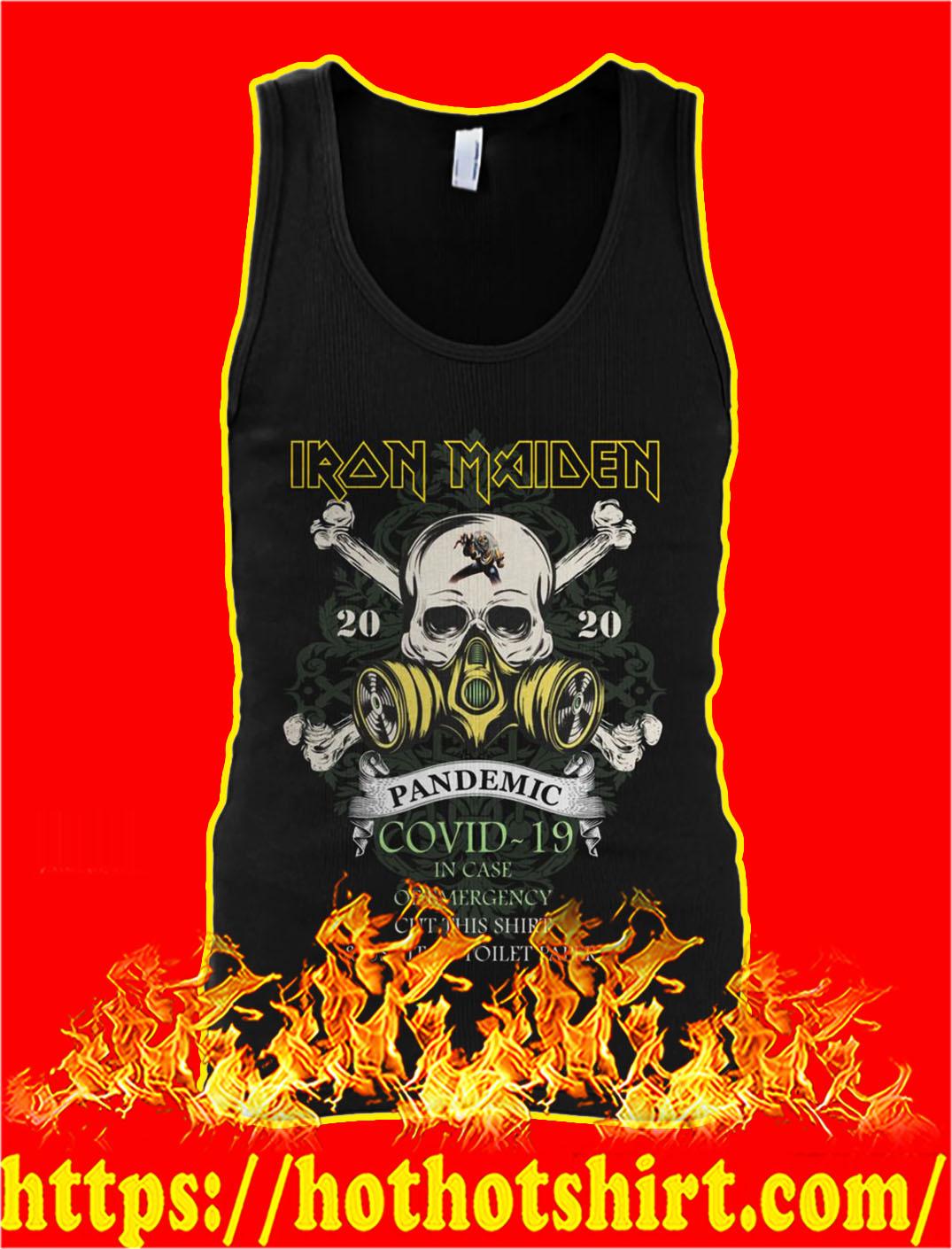 Iron maiden pandemic covid 19 skull tank top