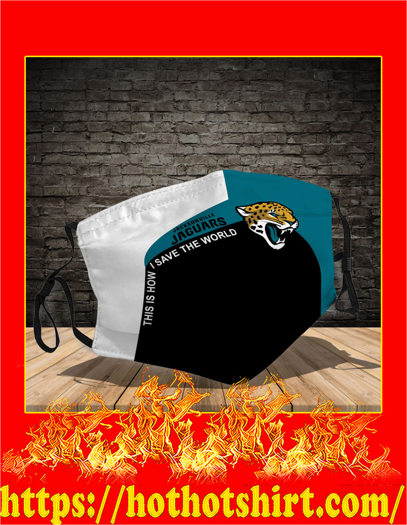 Jacksonville Jaguars 3d face mask - detail