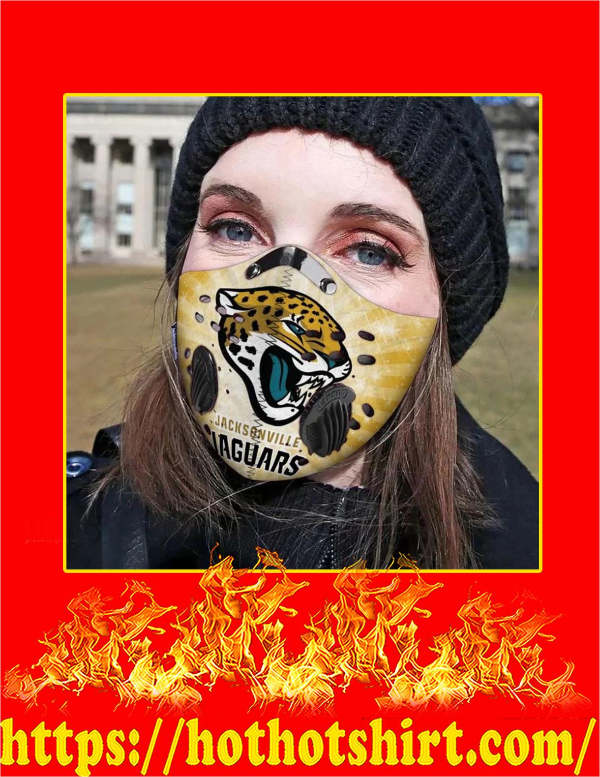 Jacksonville jaguars filter face mask