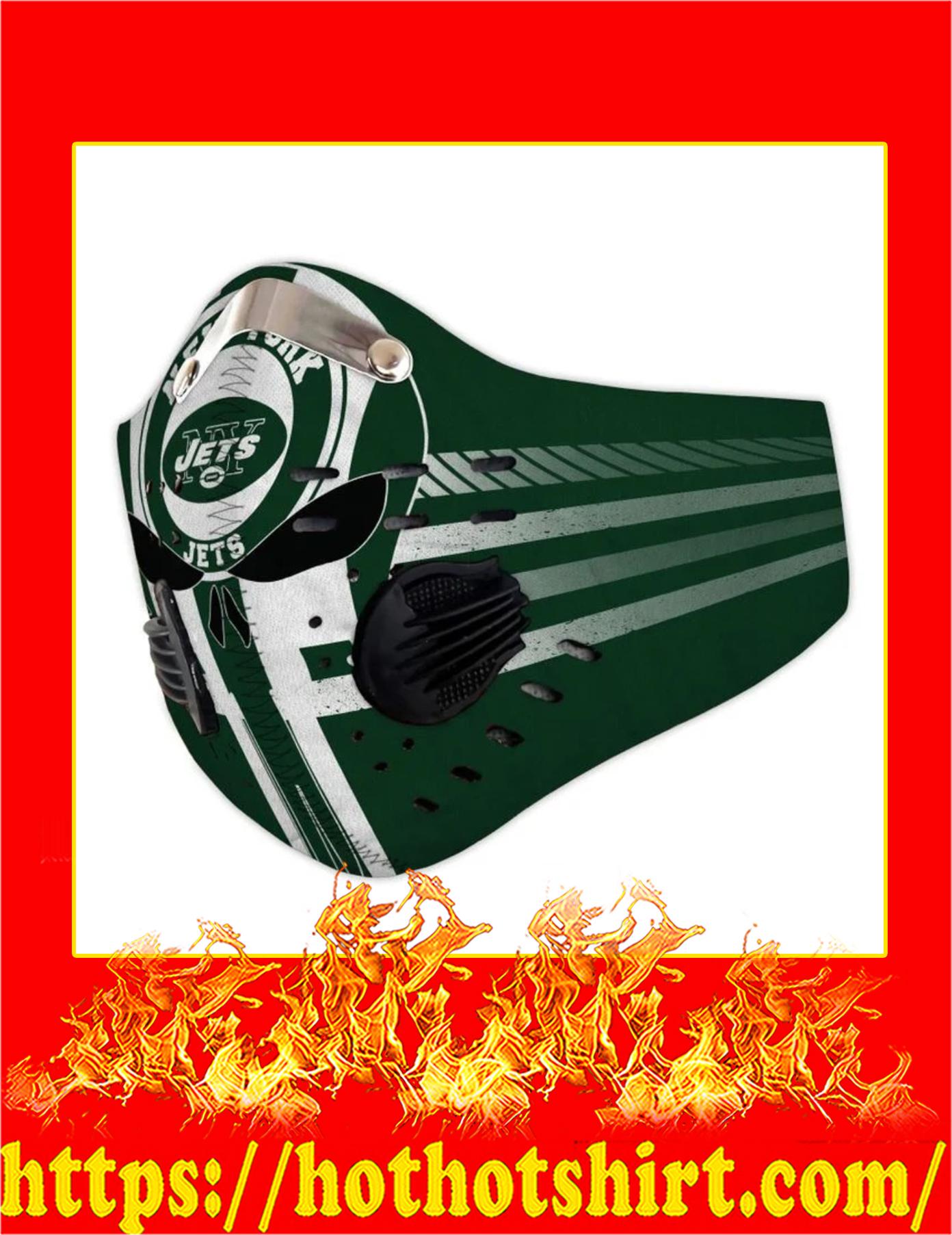 Jets punisher skull filter face mask