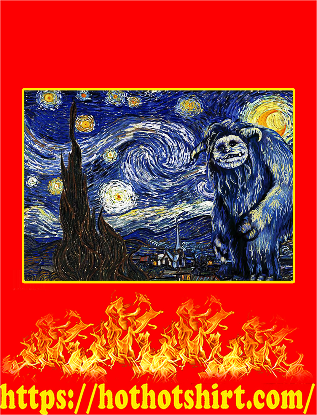Labyrinth ludo starry night poster - A2