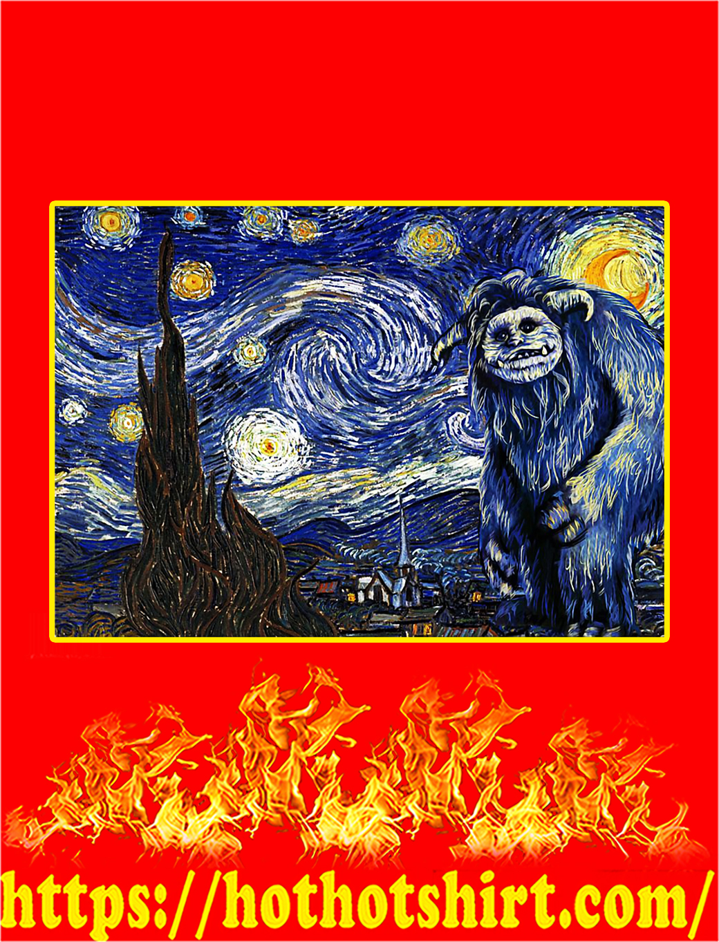 Labyrinth ludo starry night poster - A4