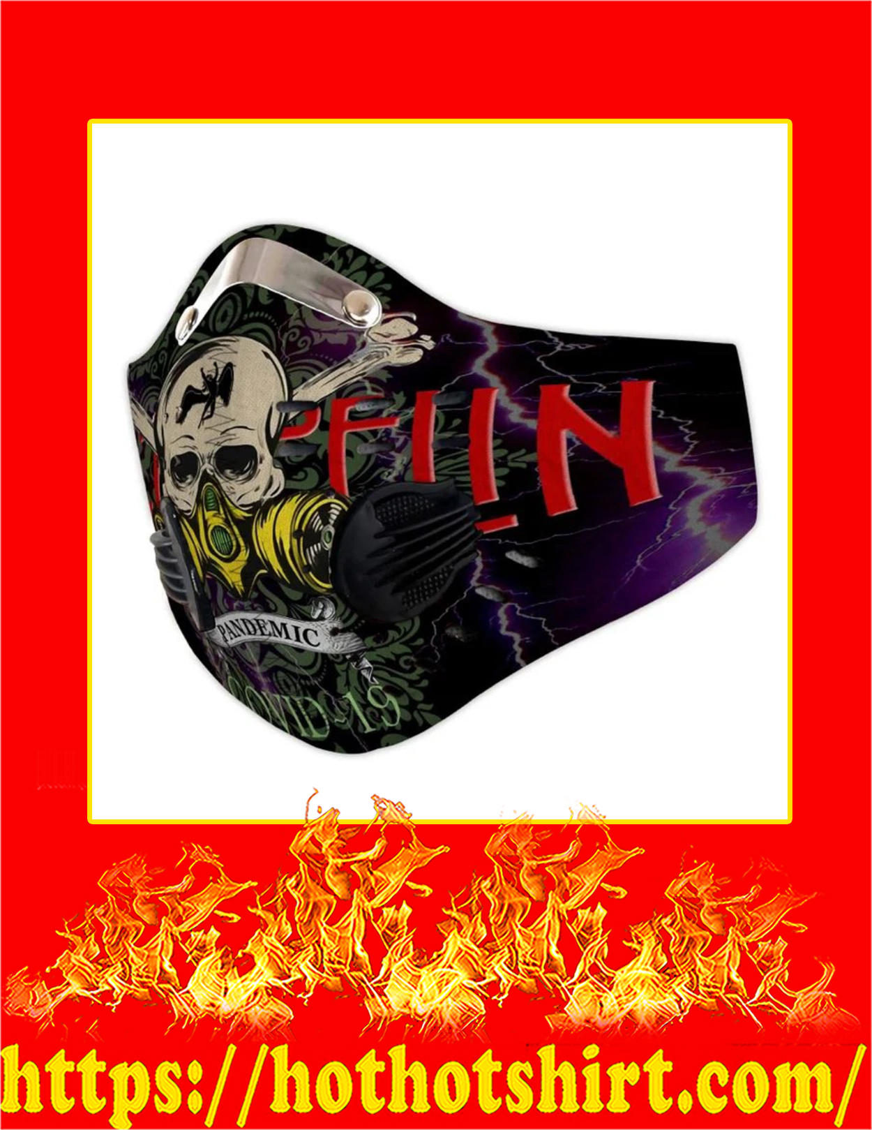 Led zeppelin pandemic covid 19 filter face mask - Pic 1