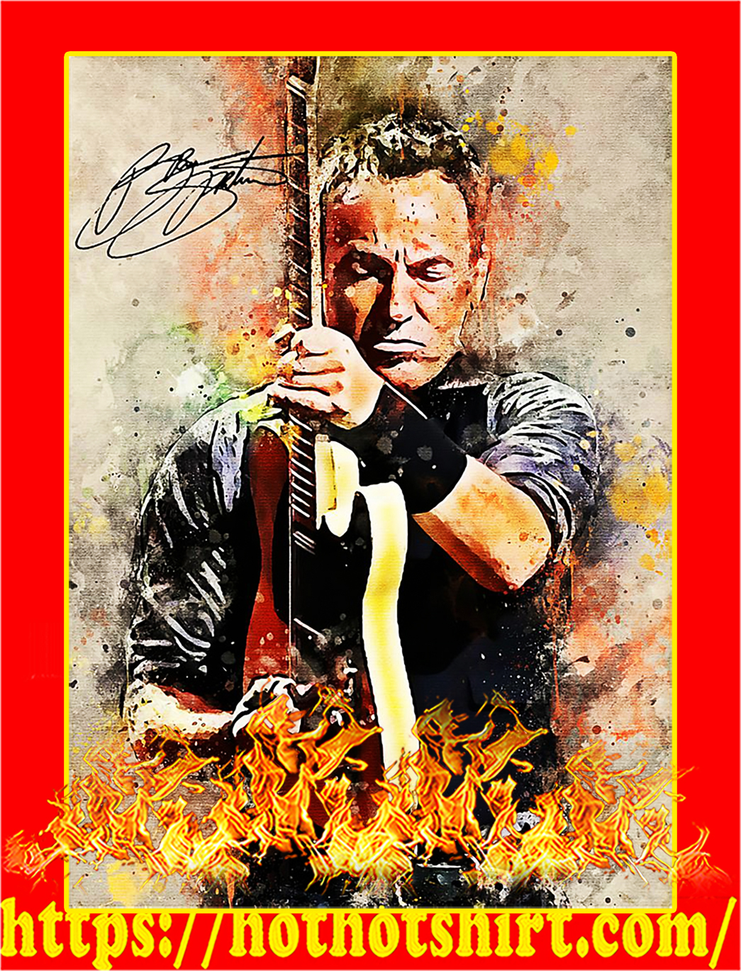 Legend bruce springsteen signature poster - A1