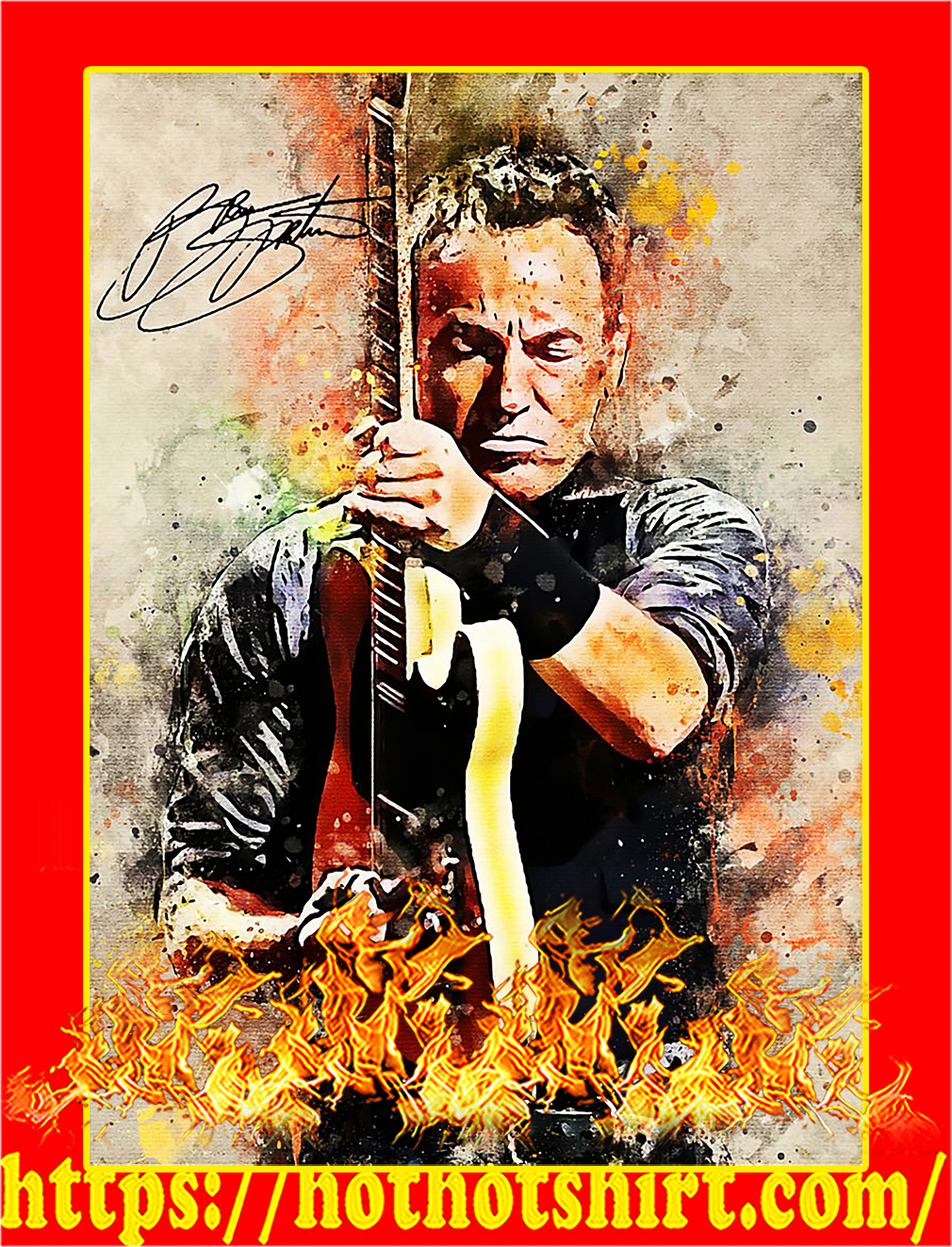 Legend bruce springsteen signature poster - A3