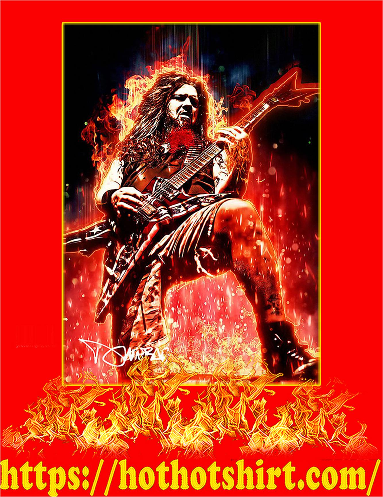Legendary Dimebag Darrell Signature Poster - A2