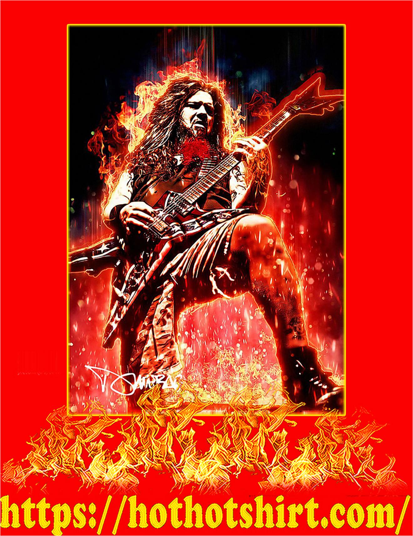Legendary Dimebag Darrell Signature Poster - A3