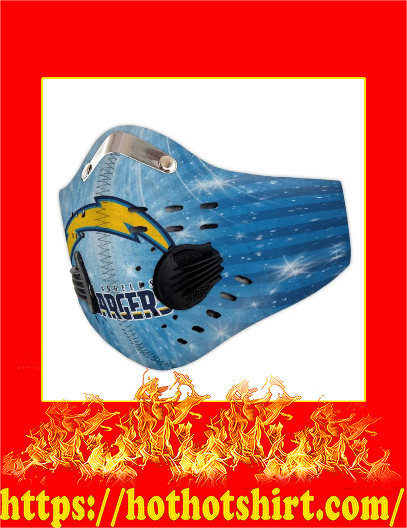 Los angeles chargers filter face mask