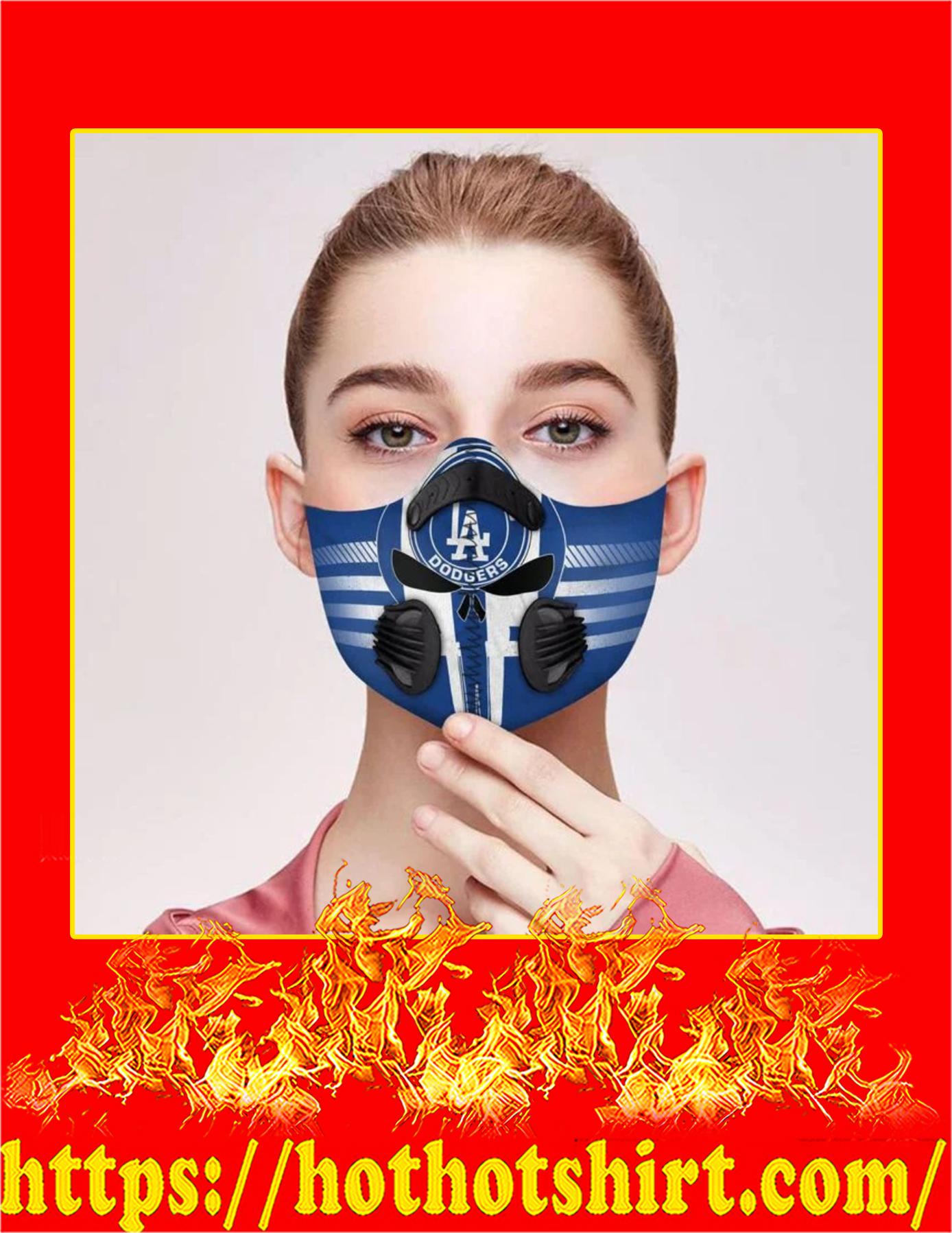 Los angeles dodgers punisher skull filter face mask - Pic 1