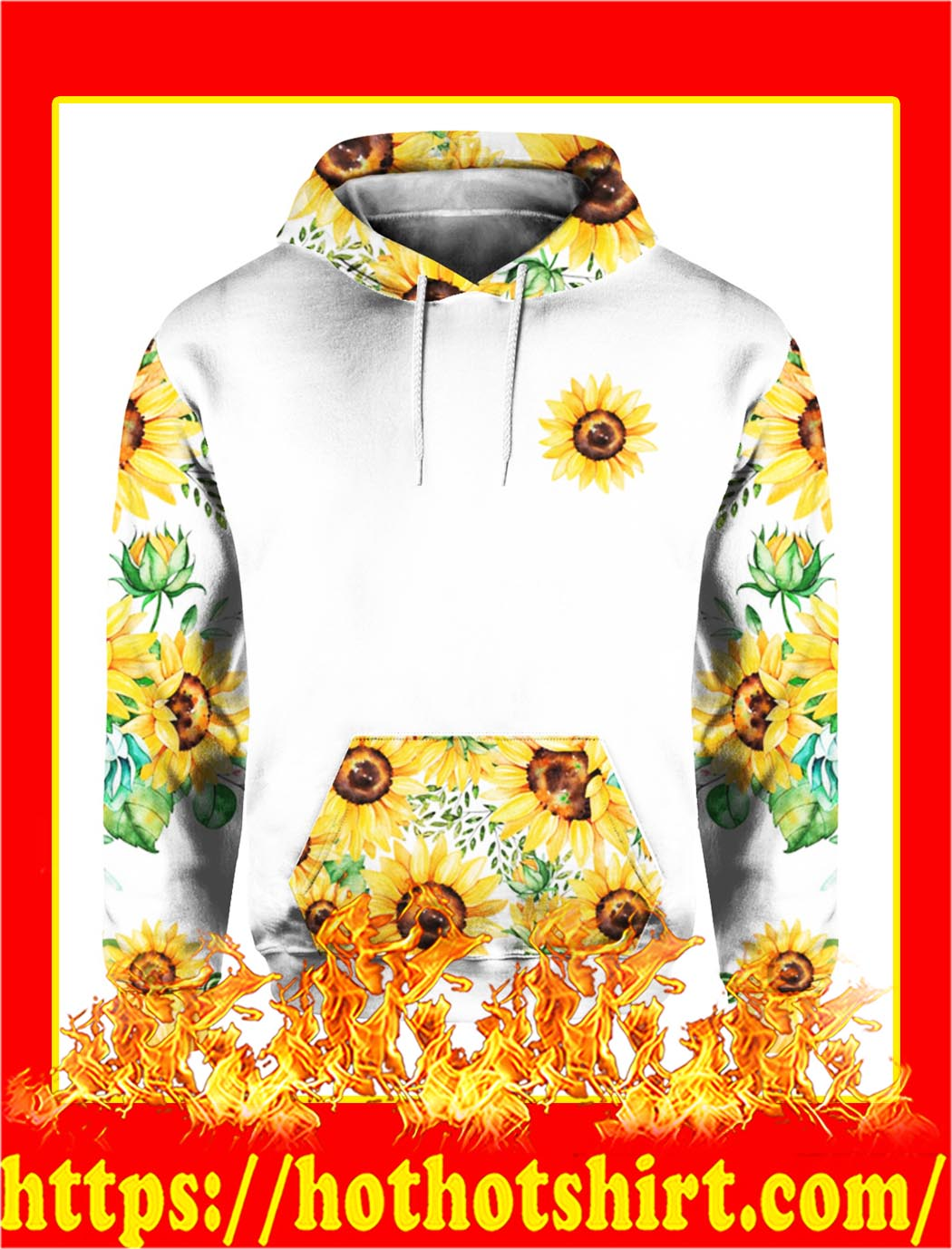 Mama Bear Sunflower 3d Hoodie- front