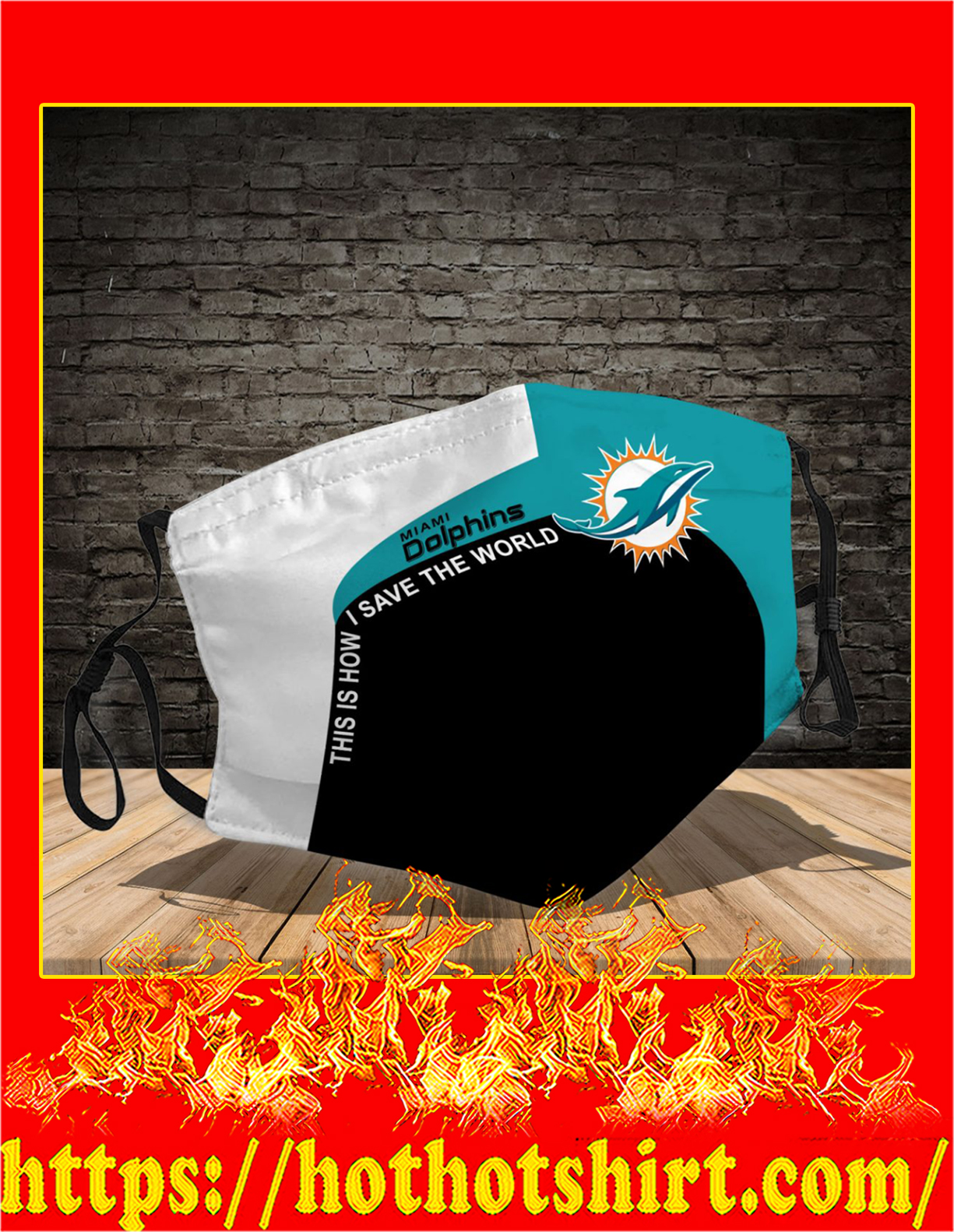 Miami Dolphins 3d face mask - detail