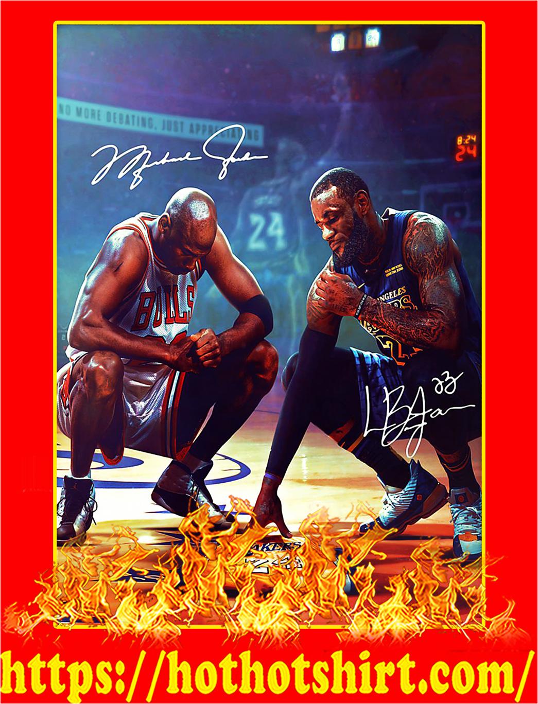 Michael jordan and lebron james poster - A3
