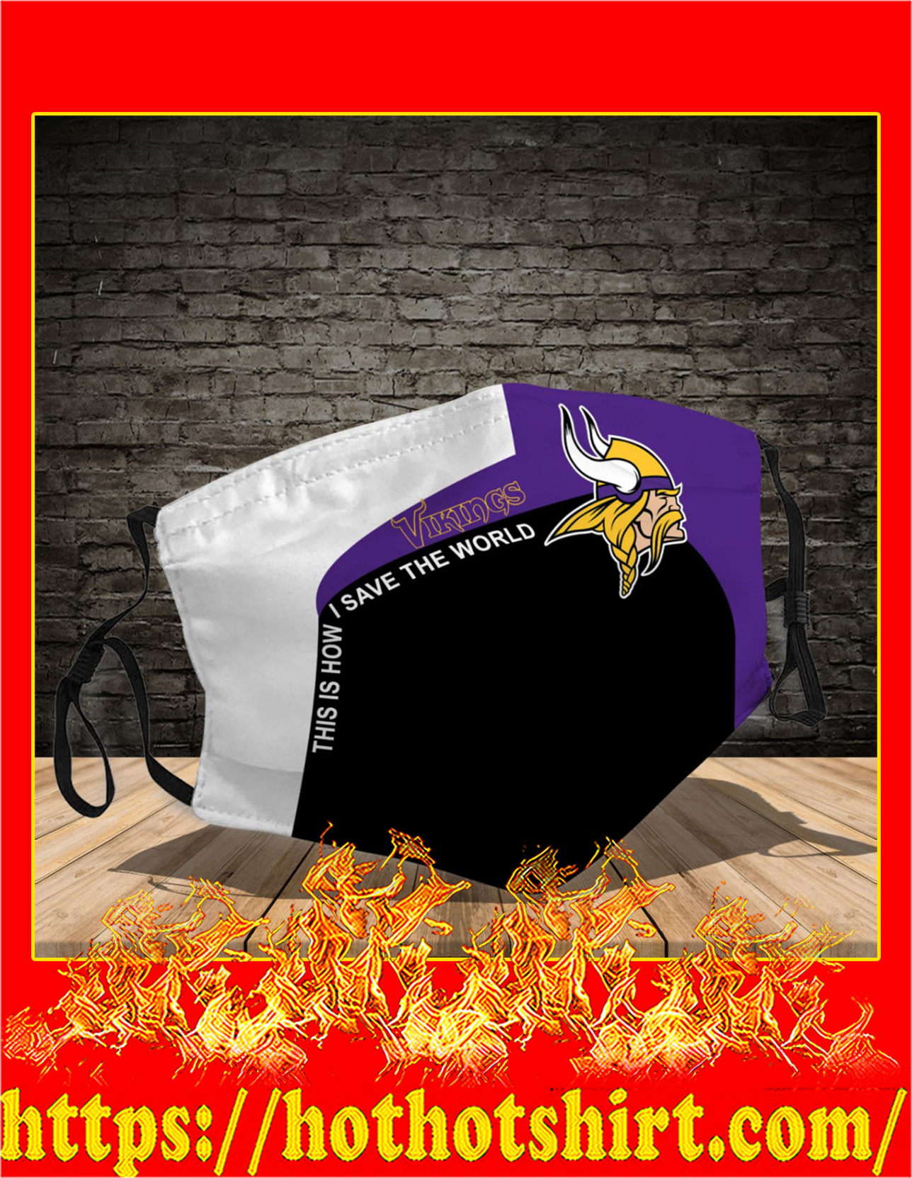 Minnesota Vikings 3d face mask - detail