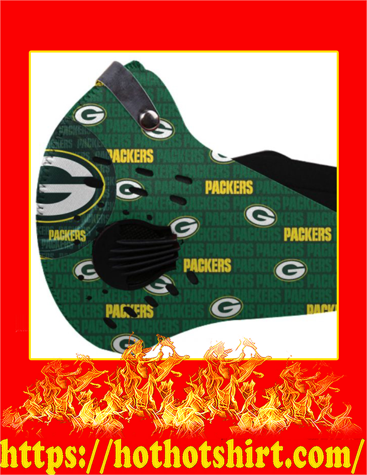 NFL Packers filter face mask - Pic 1