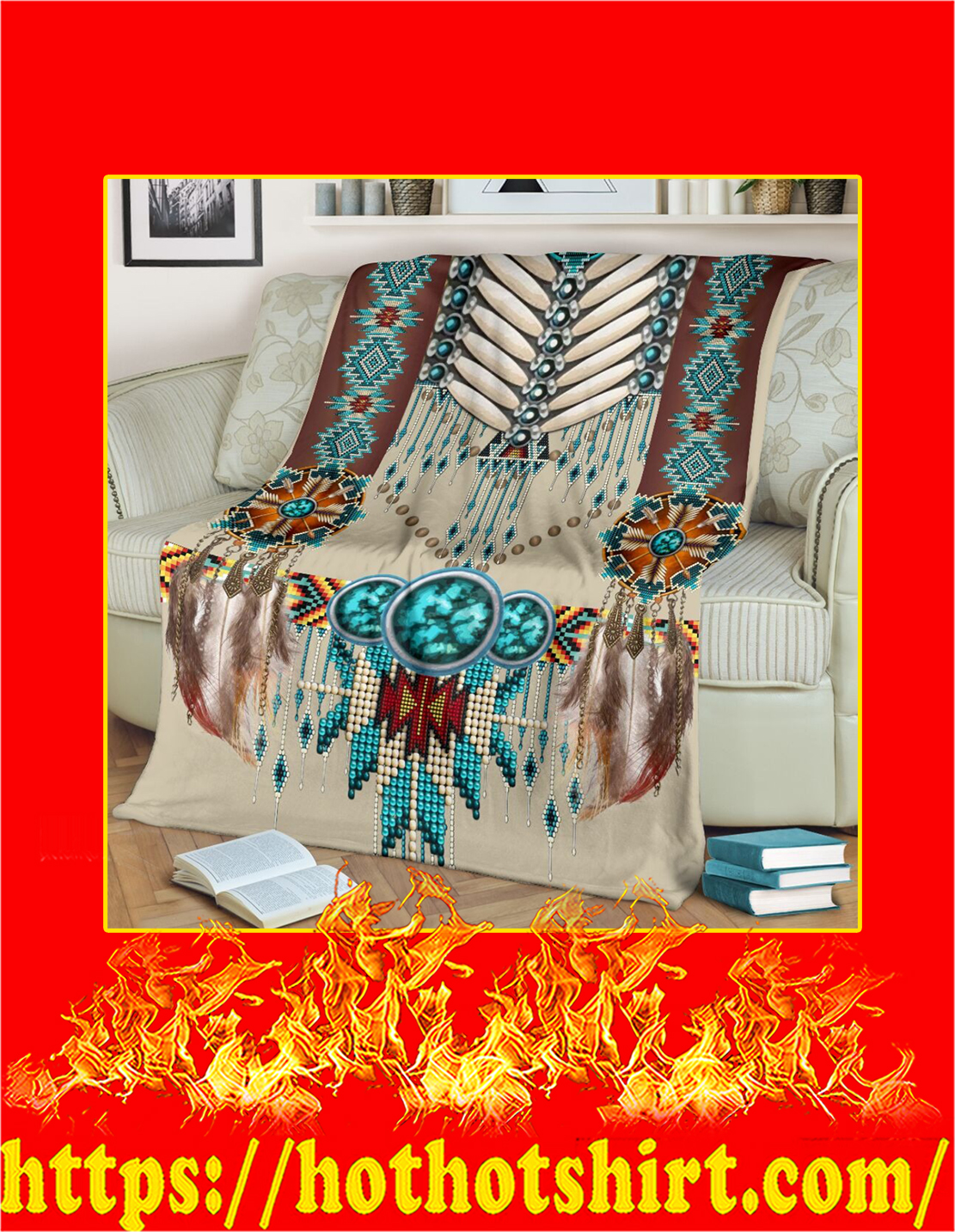 Native american pattern blanket - Large