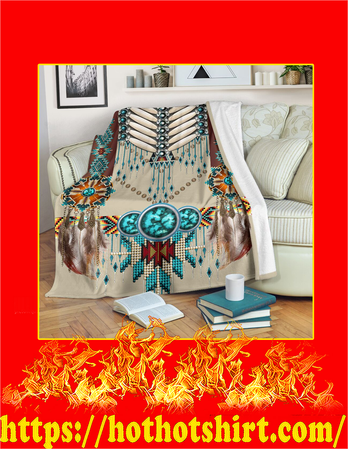 Native american pattern blanket - X large