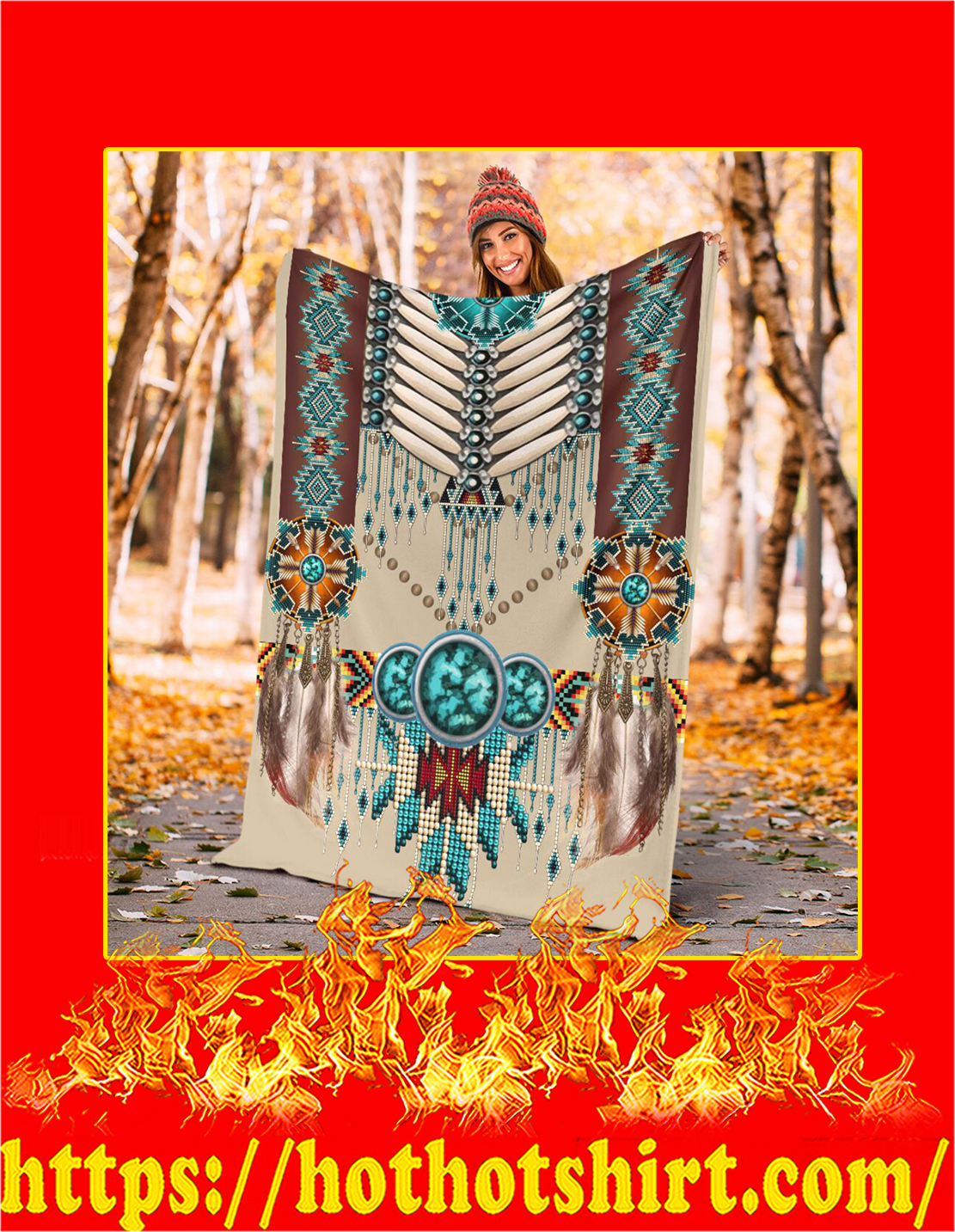 Native american pattern blanket - Youth