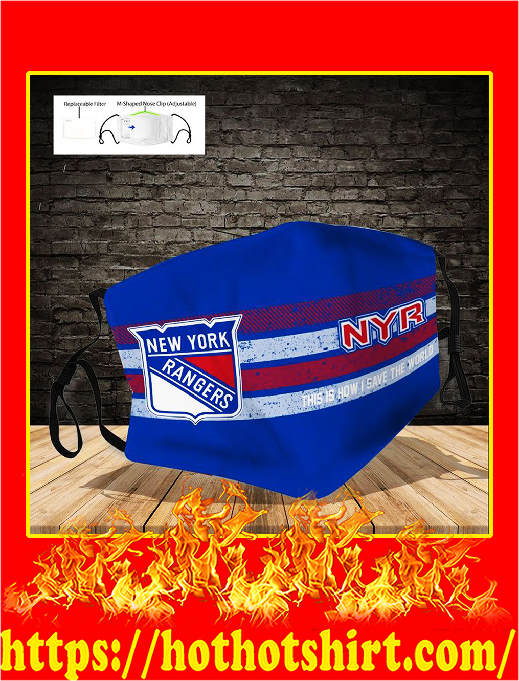 New York Rangers face mask- pic 1