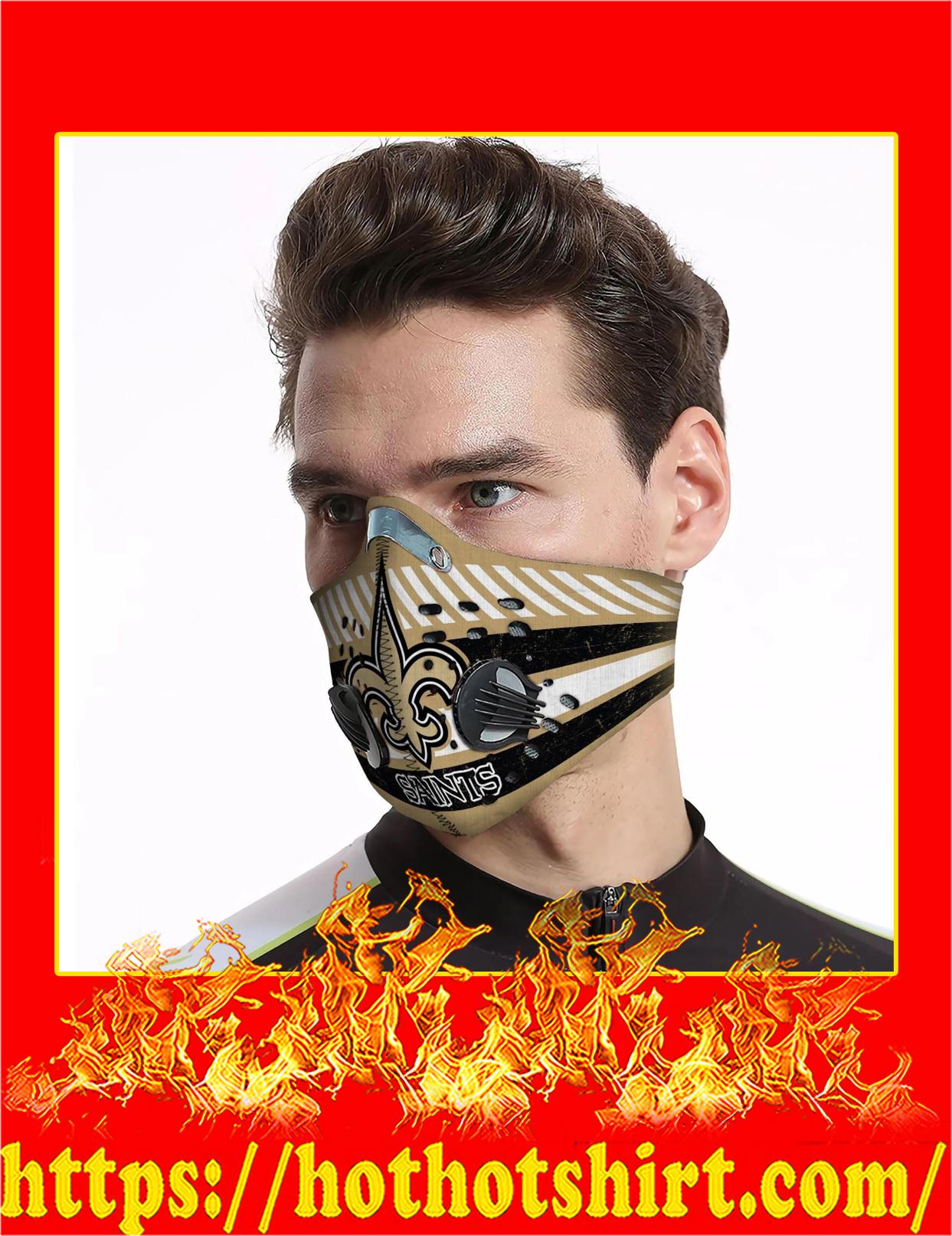 New orleans saints filter face mask - detail