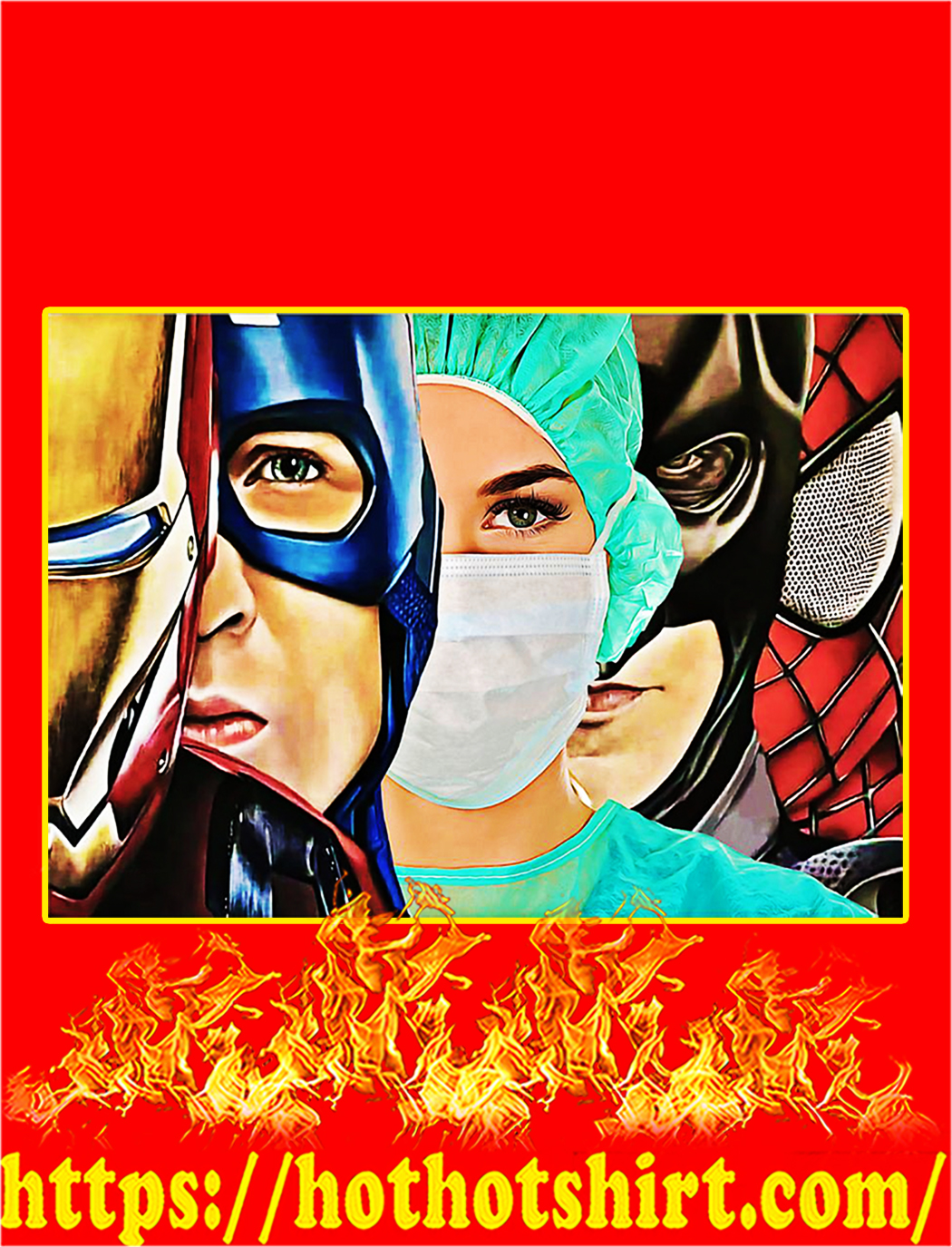 Nurse Superhero Iron Man Poster - A2