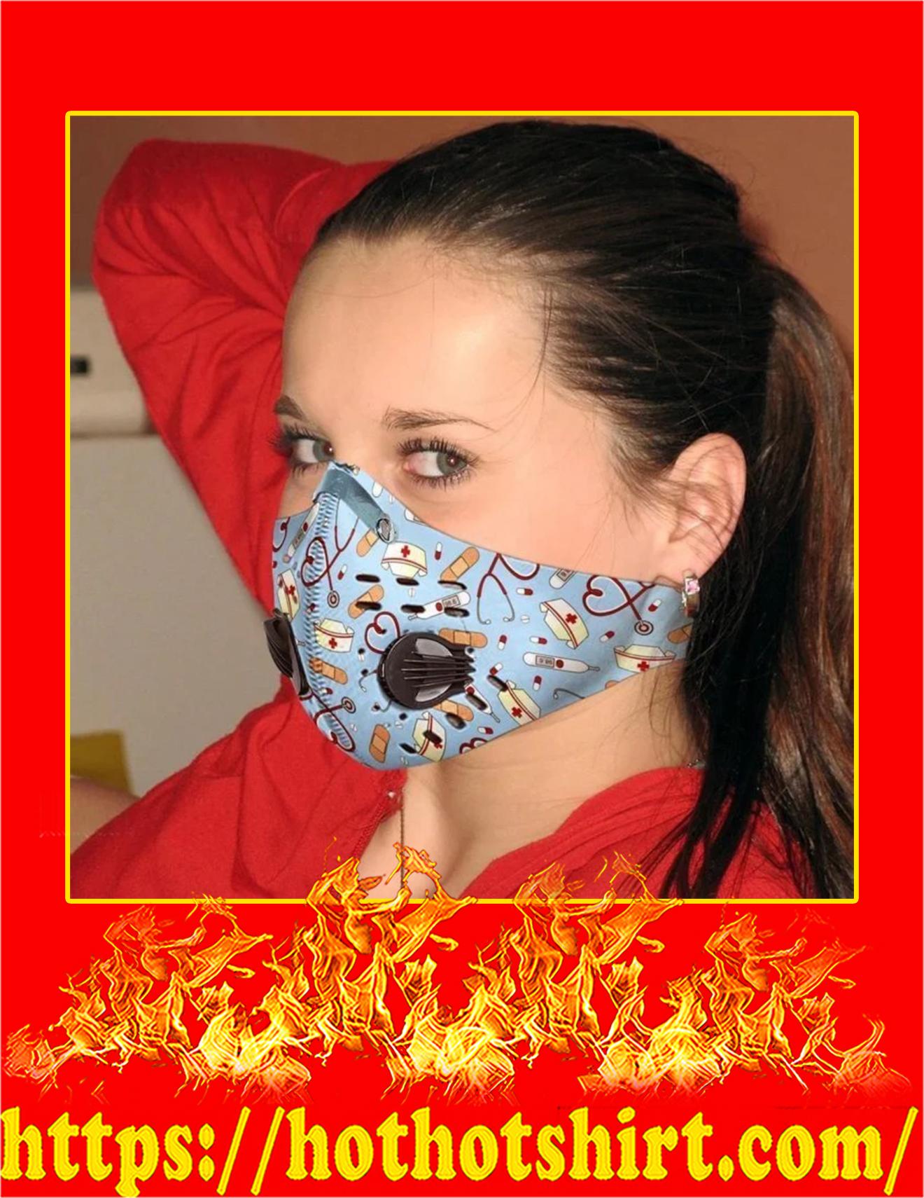 Nurse tool filter face mask - detail
