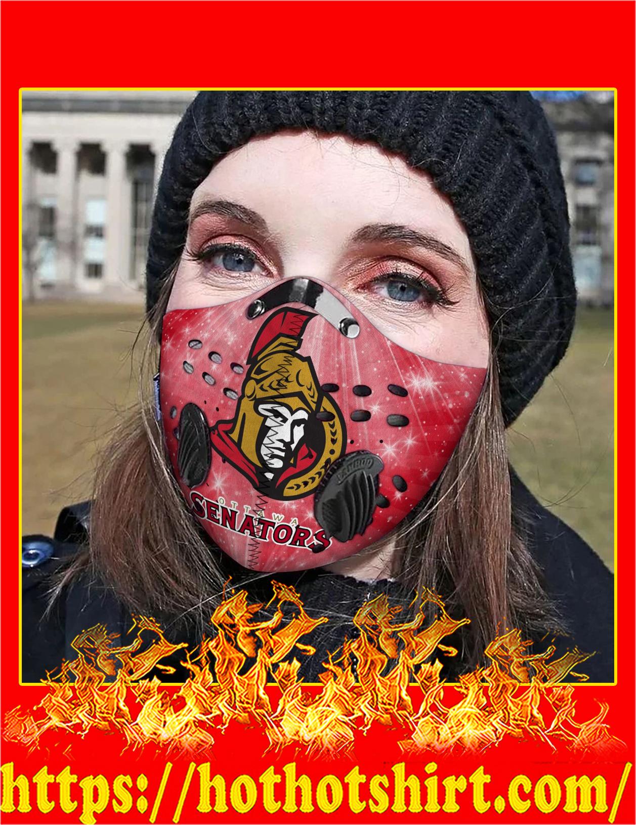 Ottawa senators filter face mask - Detail