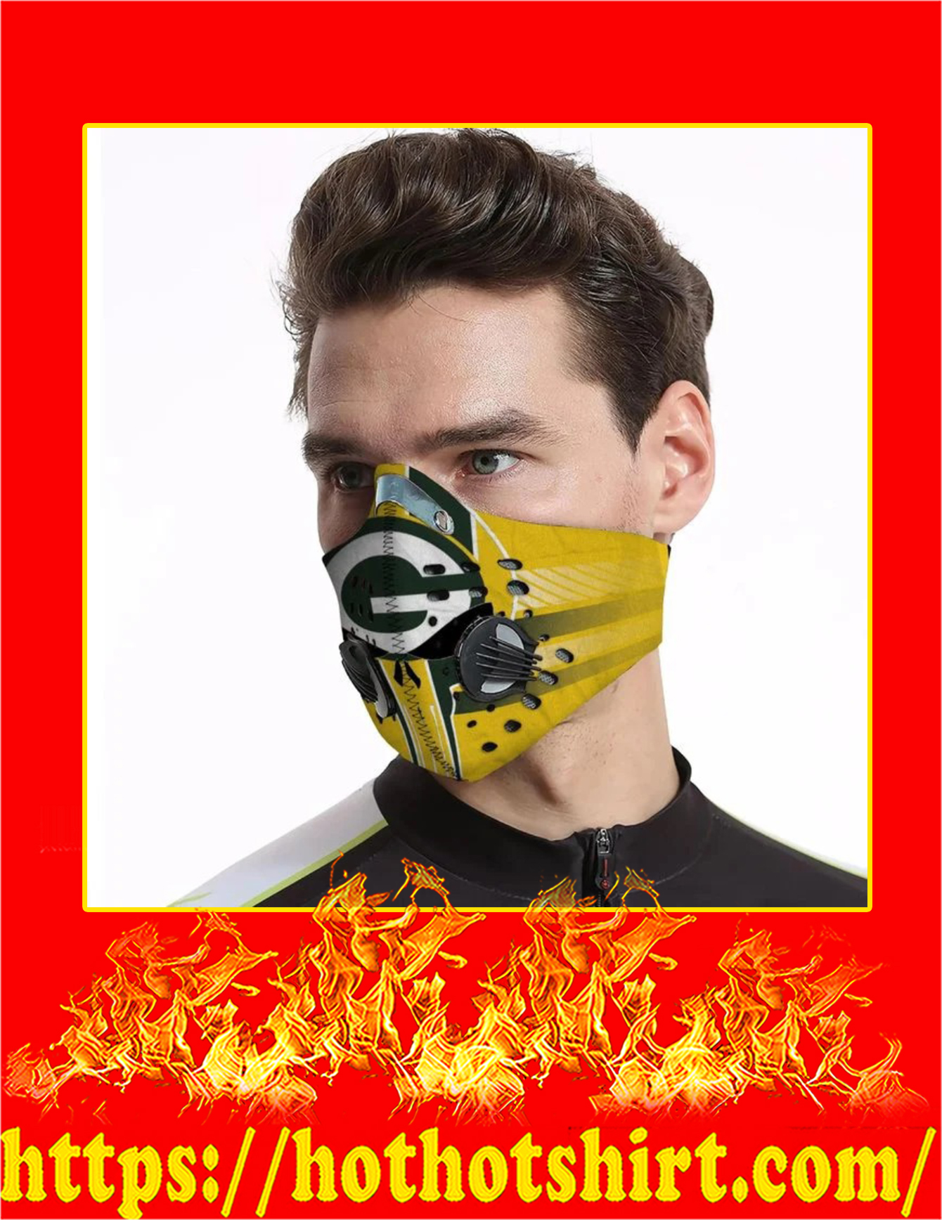 Packers punisher skull filter face mask - Pic 3