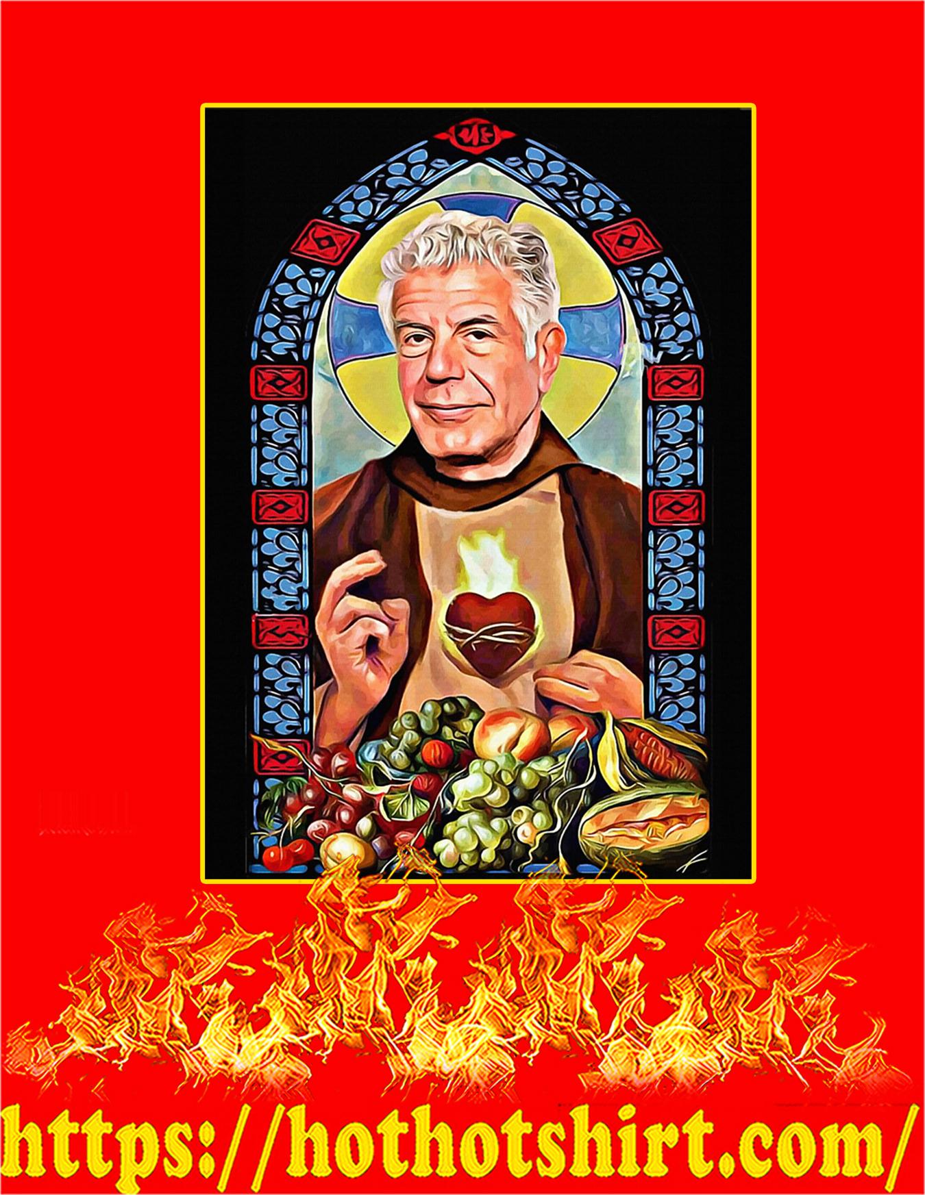 Patron saint of food and life prayer poster - A4