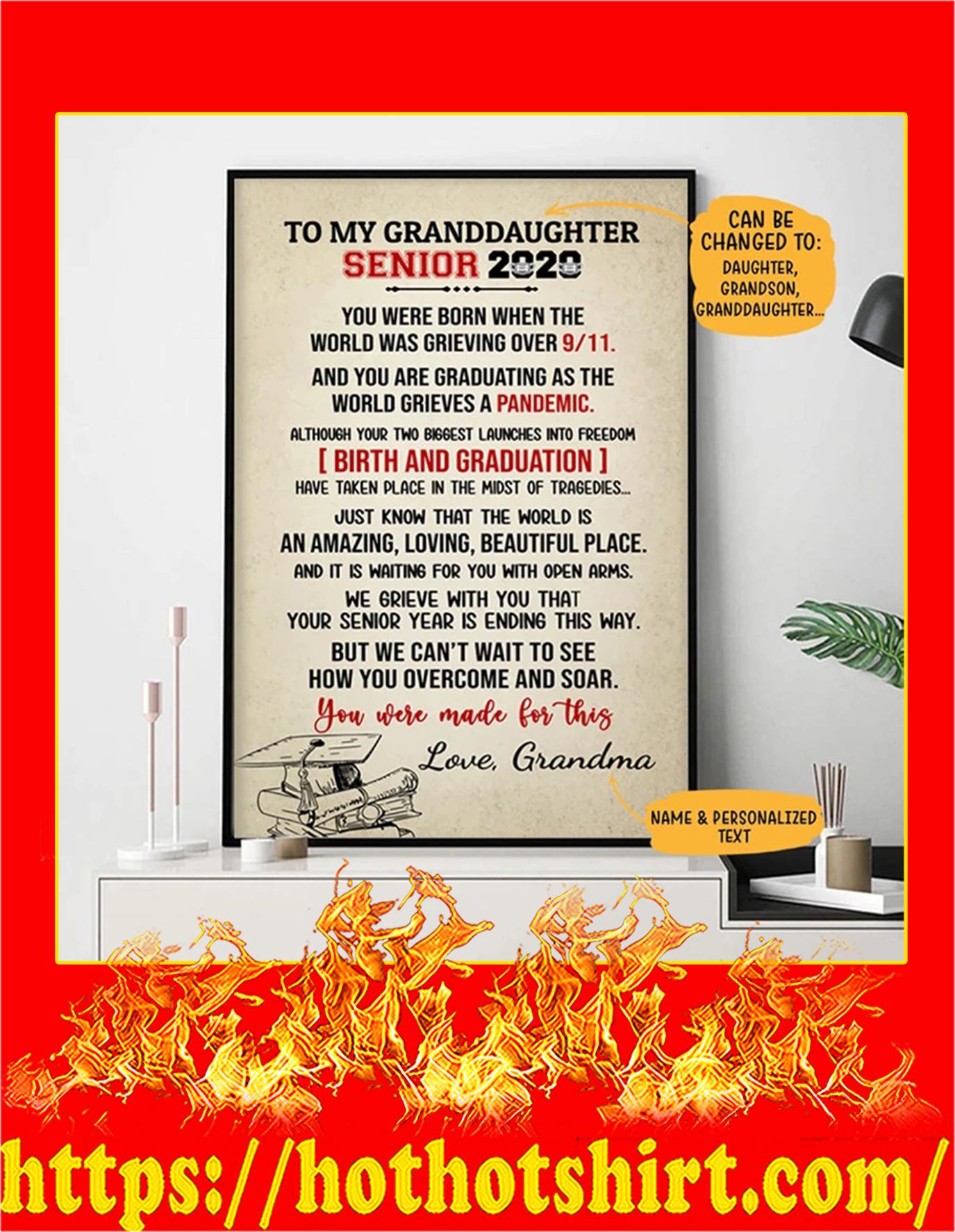 Personalized Custom My Senior 2020 Poster - 24x36