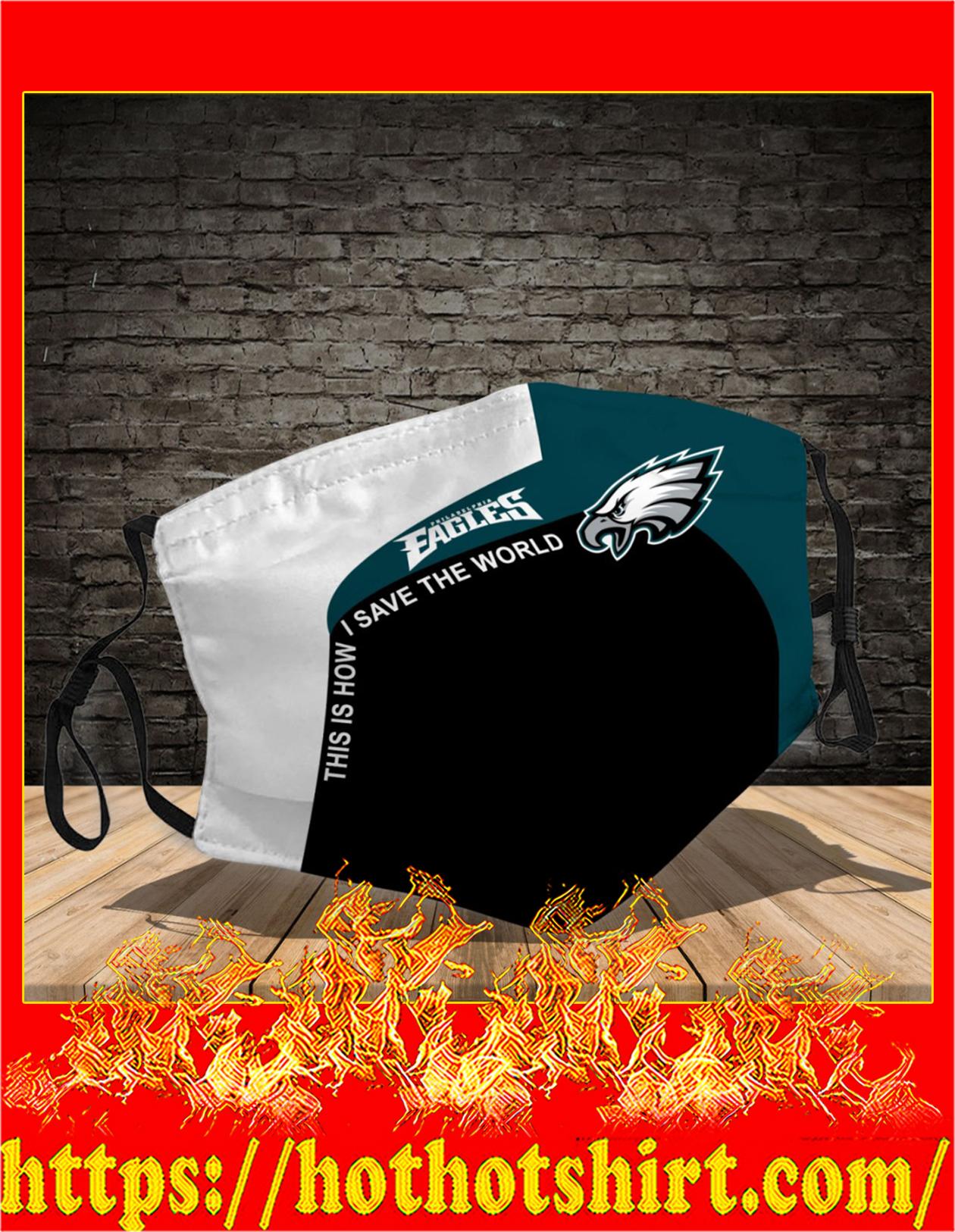 Philadelphia Eagles 3d face mask - detail
