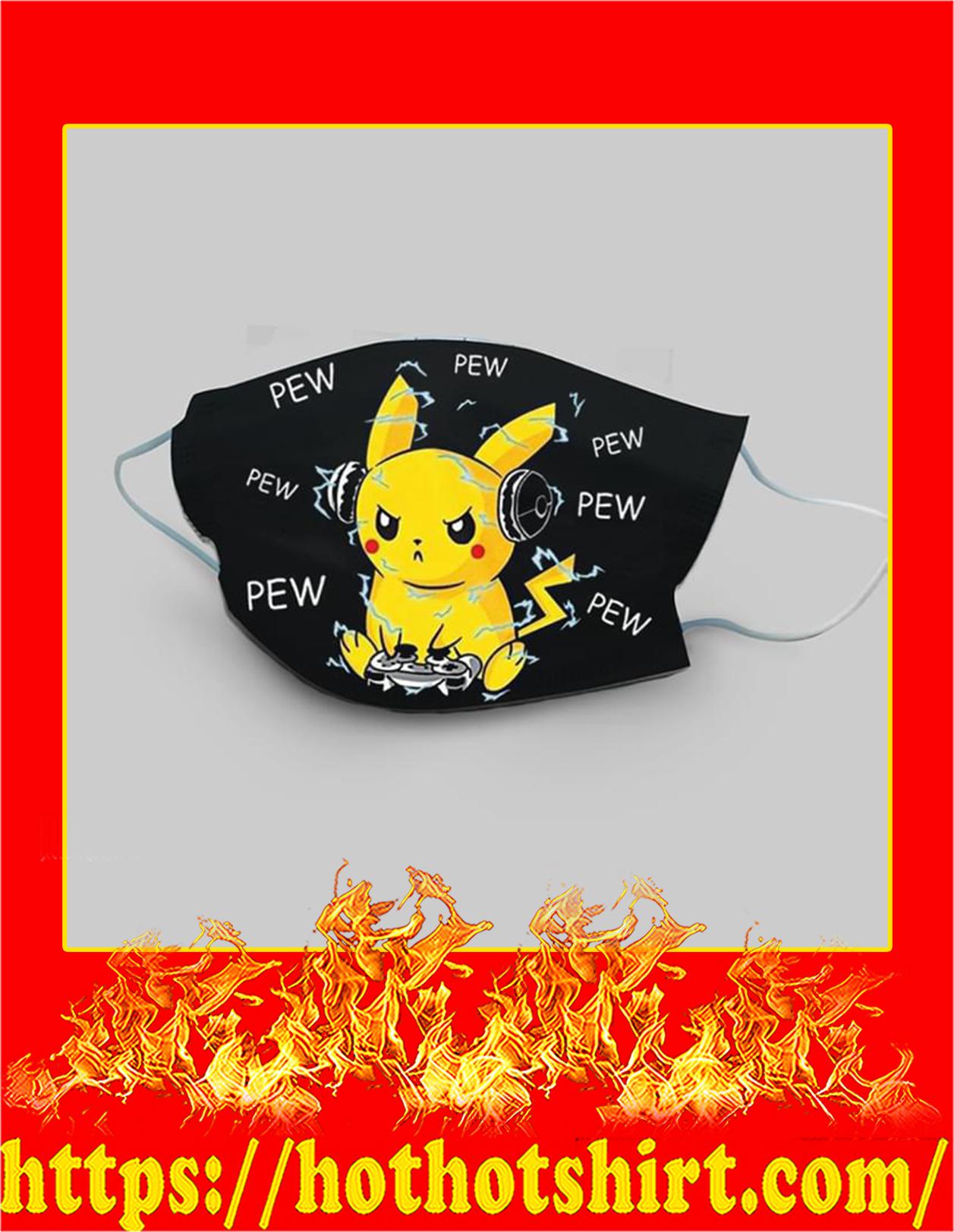 Pikachu Pew Pew Face mask - detail