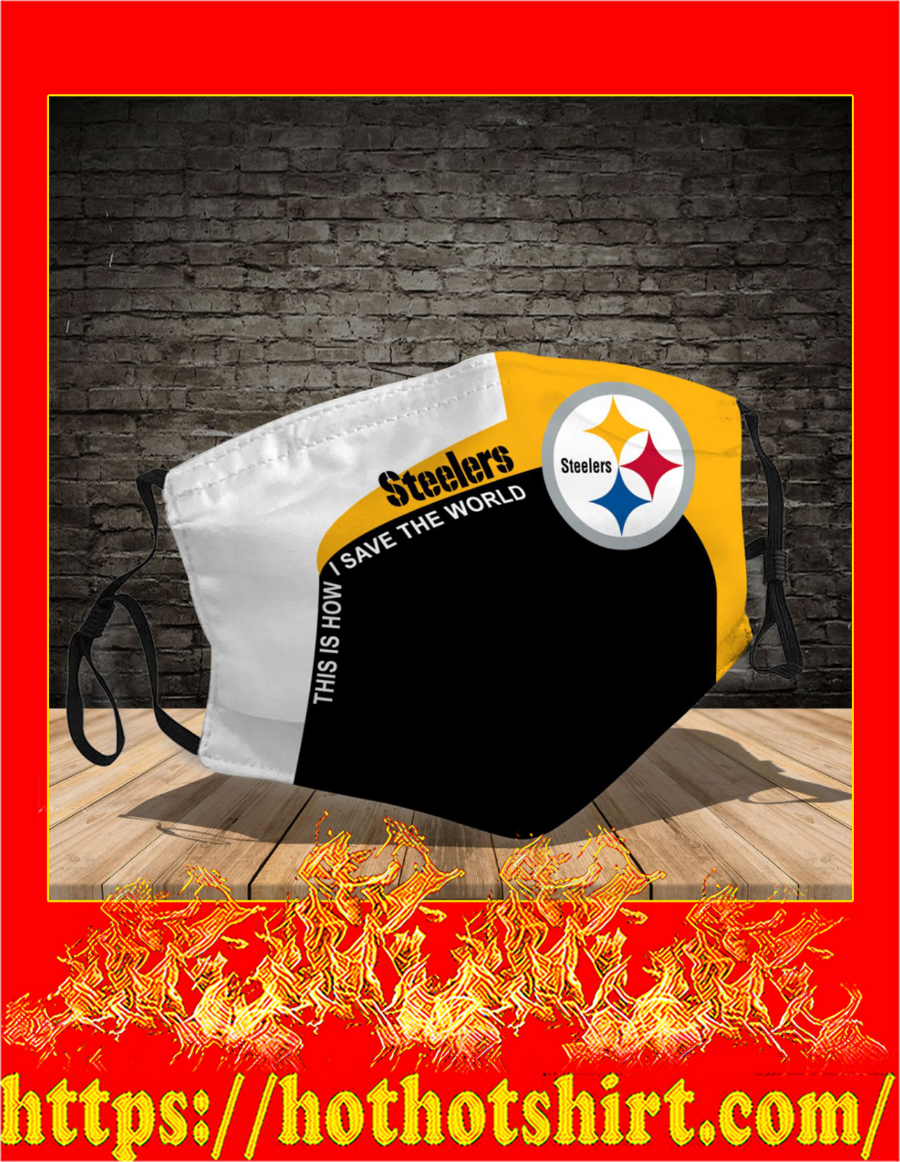 Pittsburgh Steelers 3d face mask - detail