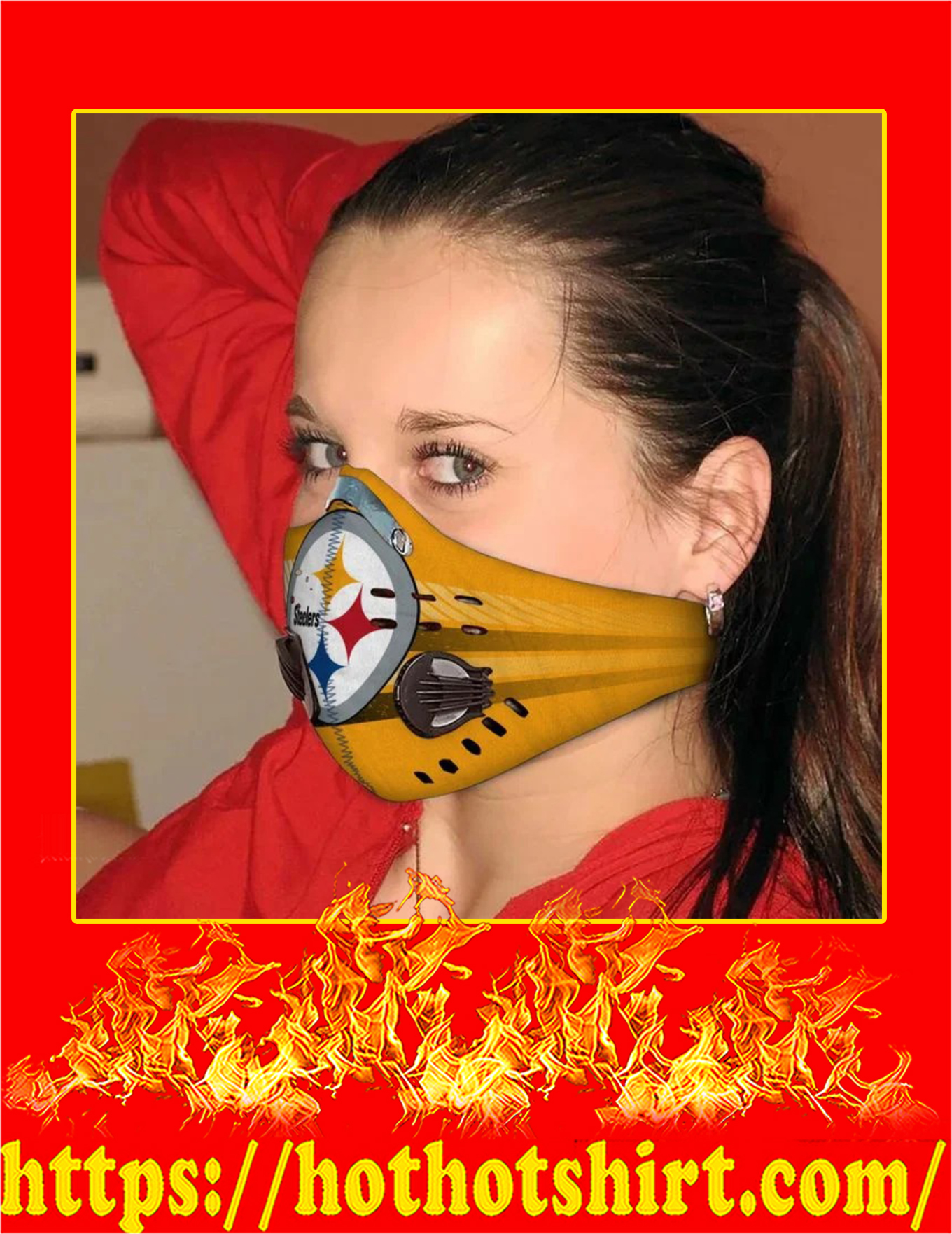 Pittsburgh steelers filter face mask - Pic 1