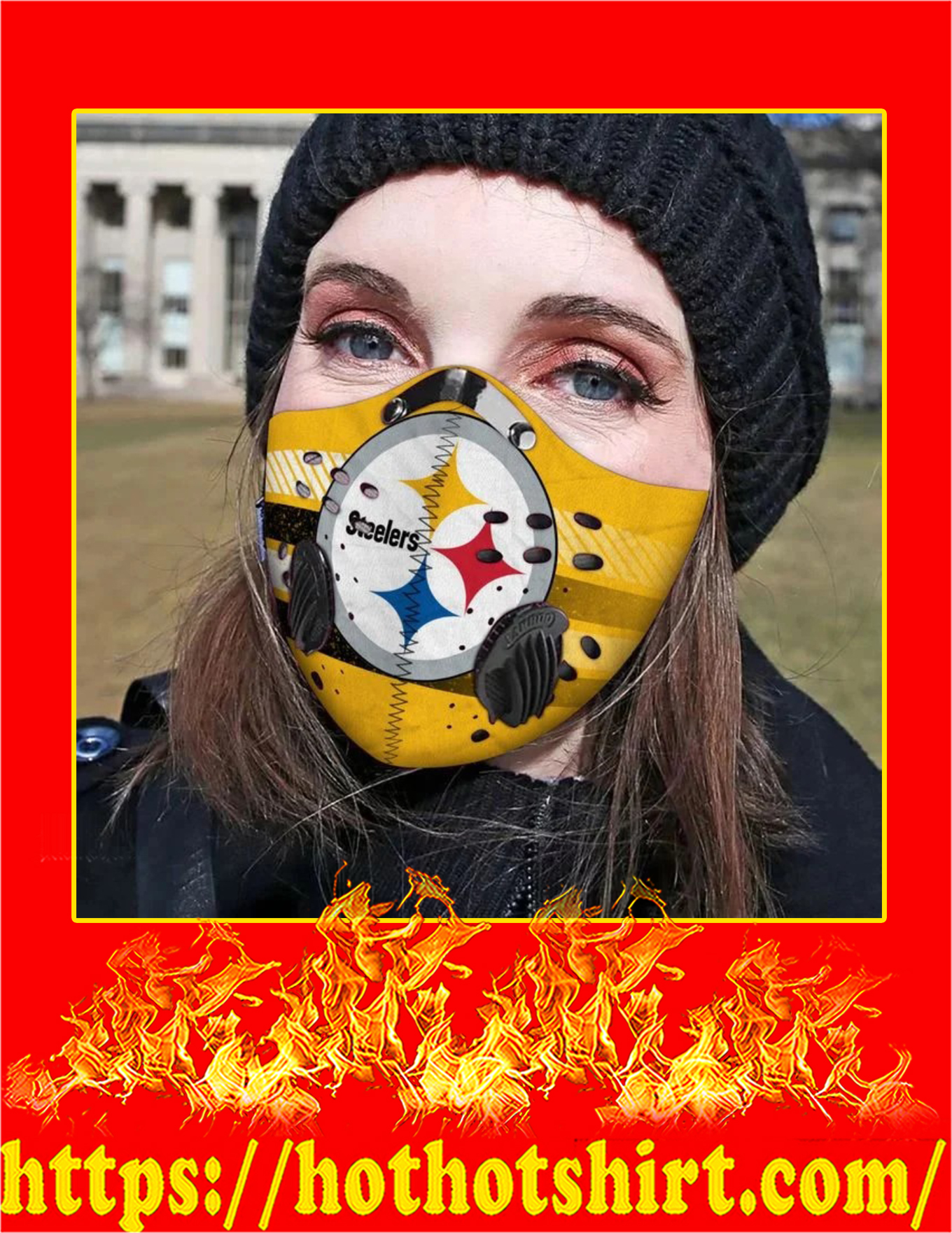Pittsburgh steelers filter face mask - Pic 2