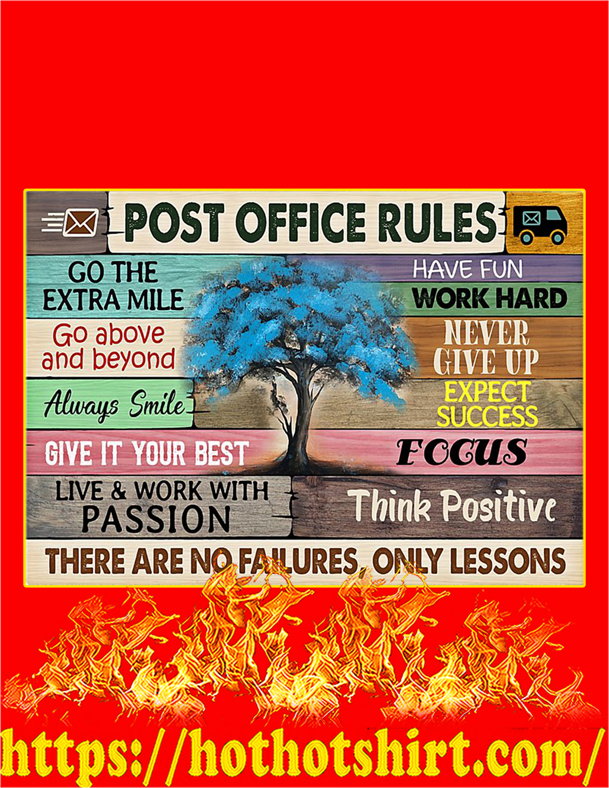 Post office rules tree poster - A2