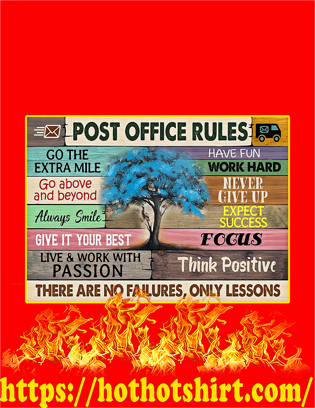 Post office rules tree poster - A4