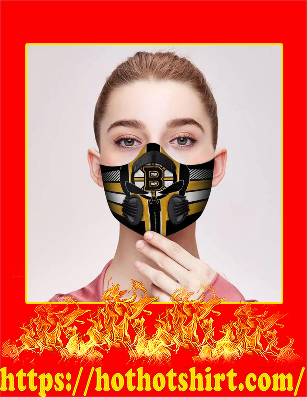 Punisher skull boston bruins filter face mask -Pic 1