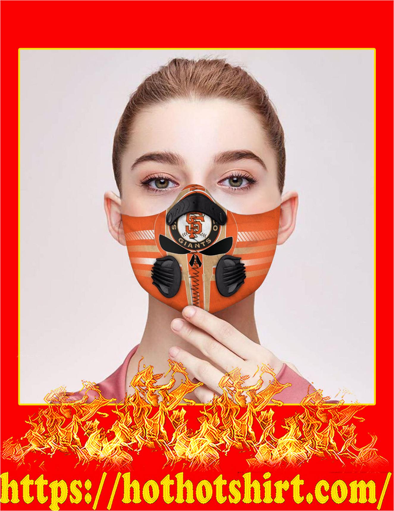 Punisher skull san francisco giant filter face mask - Detail