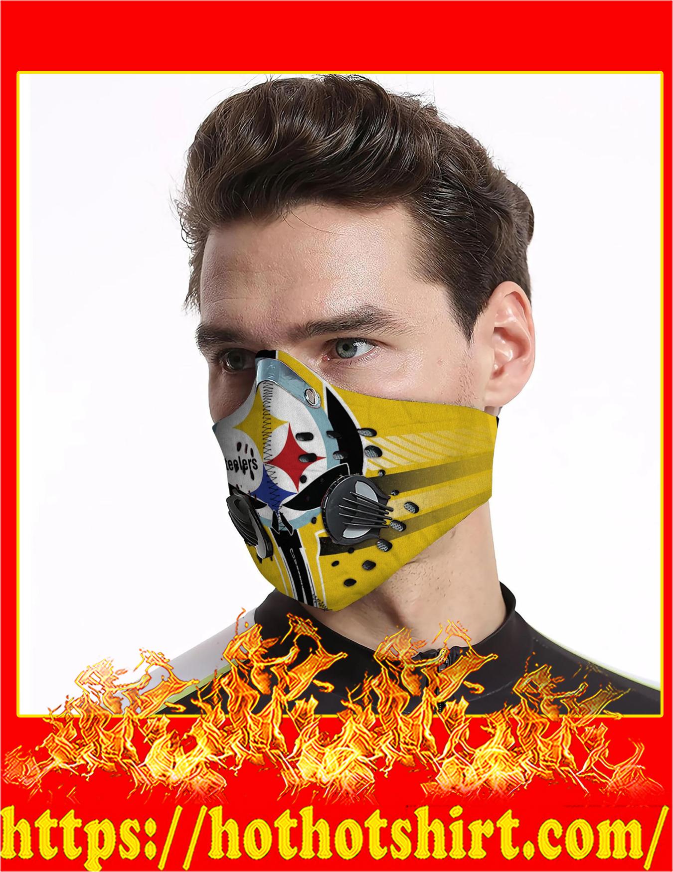 Punisher skull steelers filter face mask - Detail