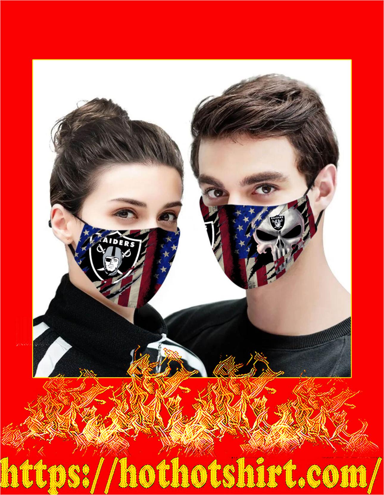 Raiders punisher skull american flag face mask