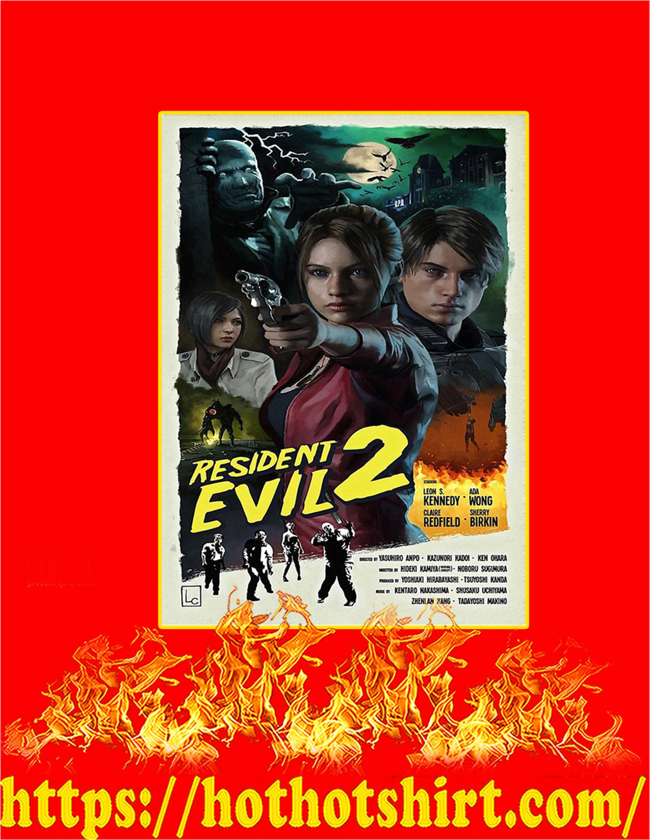 Resident evil 2 poster - A3